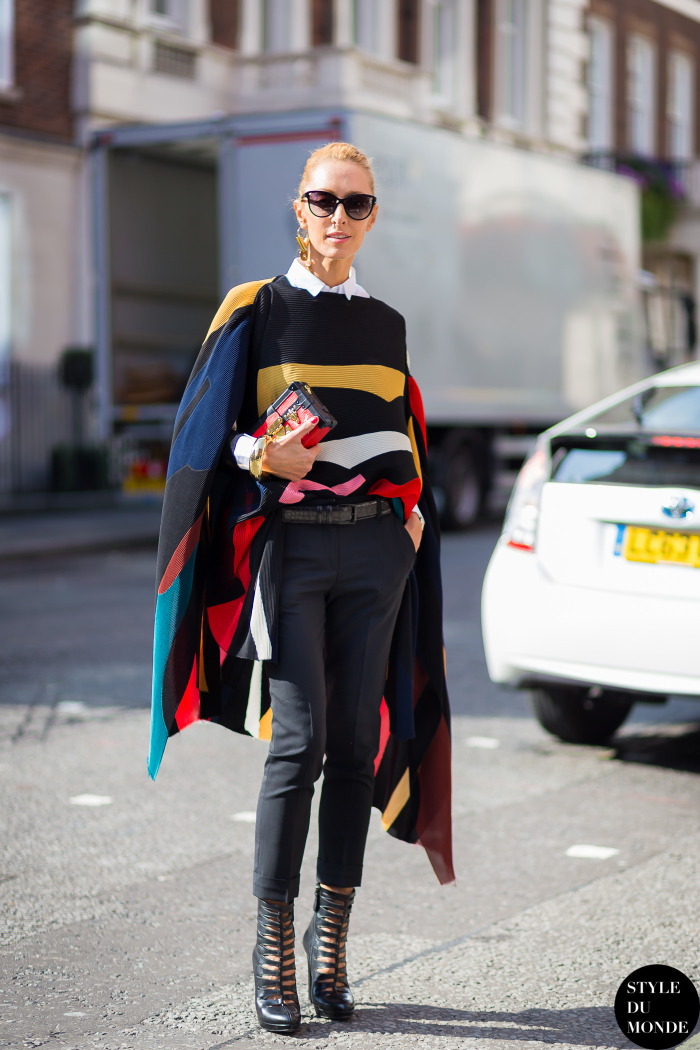 Elina Halimi Street Style Street Fashion Streetsnaps by STYLEDUMONDE Street Style Fashion Blog