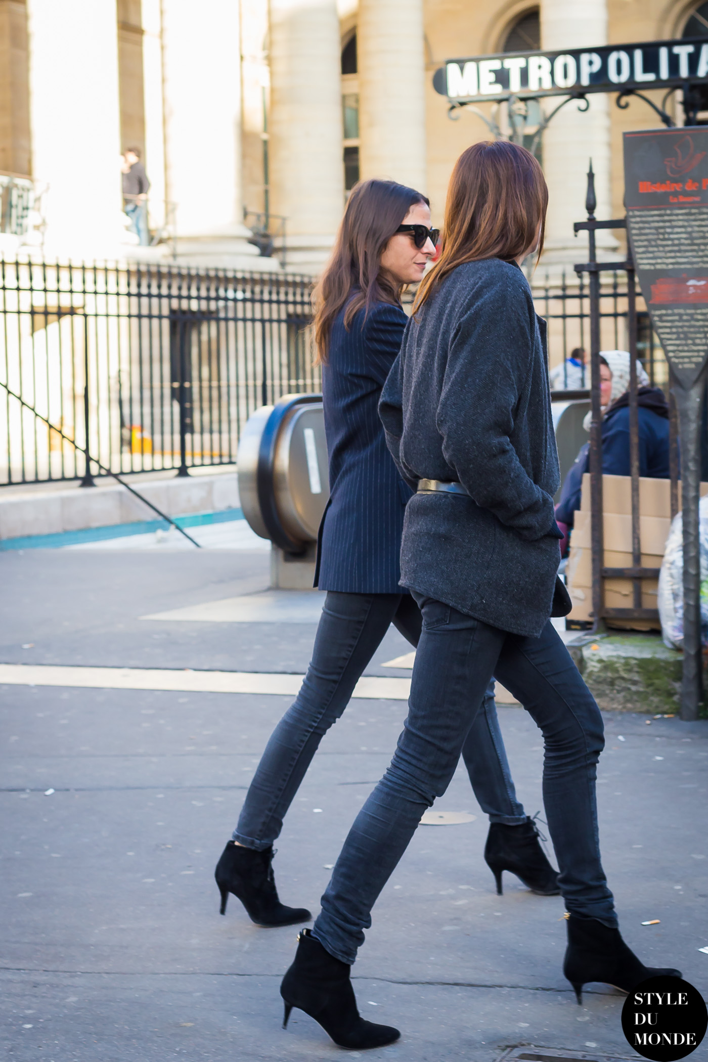 Claire Dhelens and Capucine Safyurtlu Street Style Street Fashion Streetsnaps by STYLEDUMONDE Street Style Fashion Blog