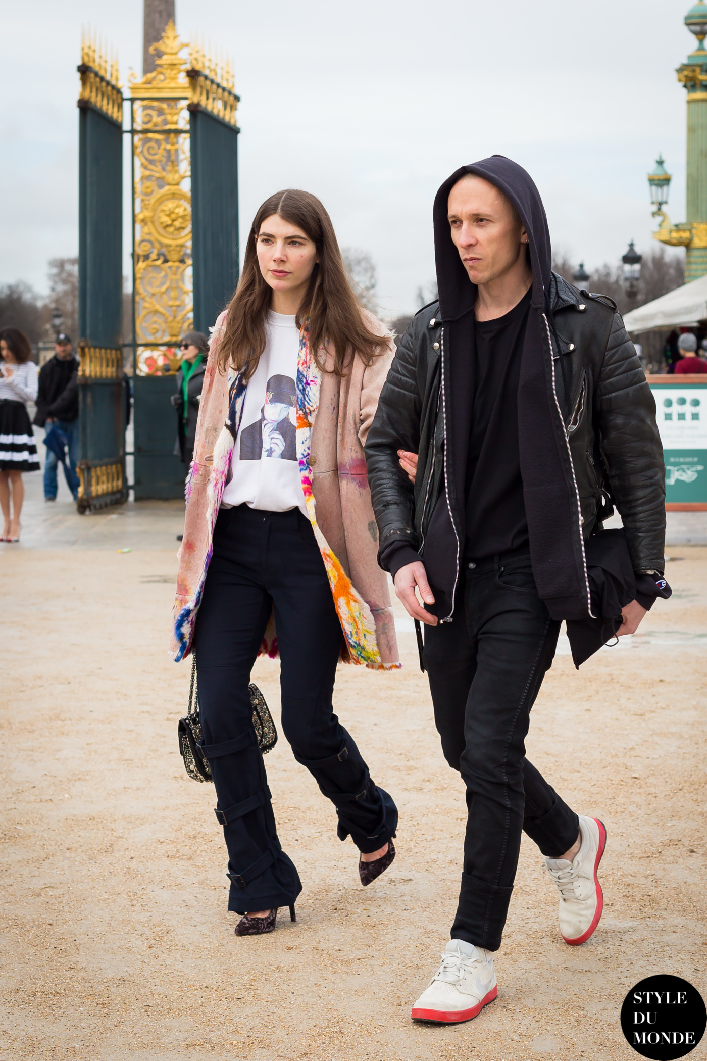 Ursina Gysi and Dominic Haydn Rawle Street Style Street Fashion Streetsnaps by STYLEDUMONDE Street Style Fashion Blog