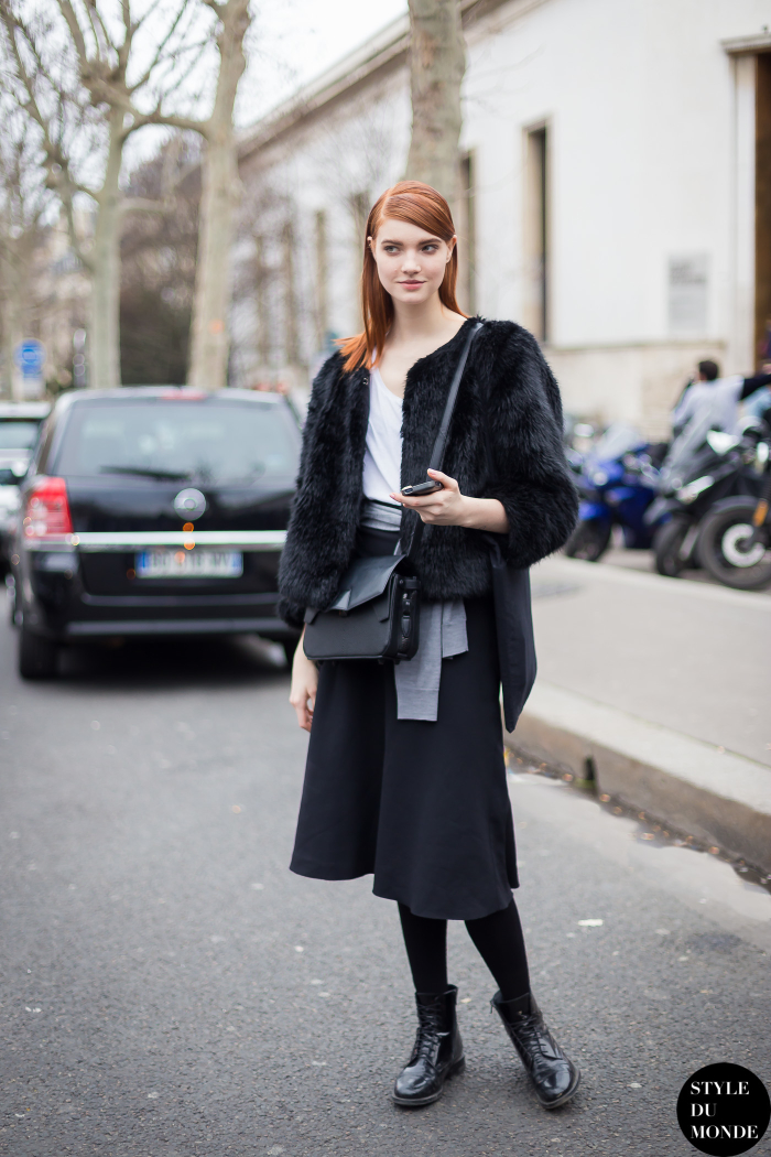 Paris Fashion Week Fw 2014 Street Style Anastasia Ivanova
