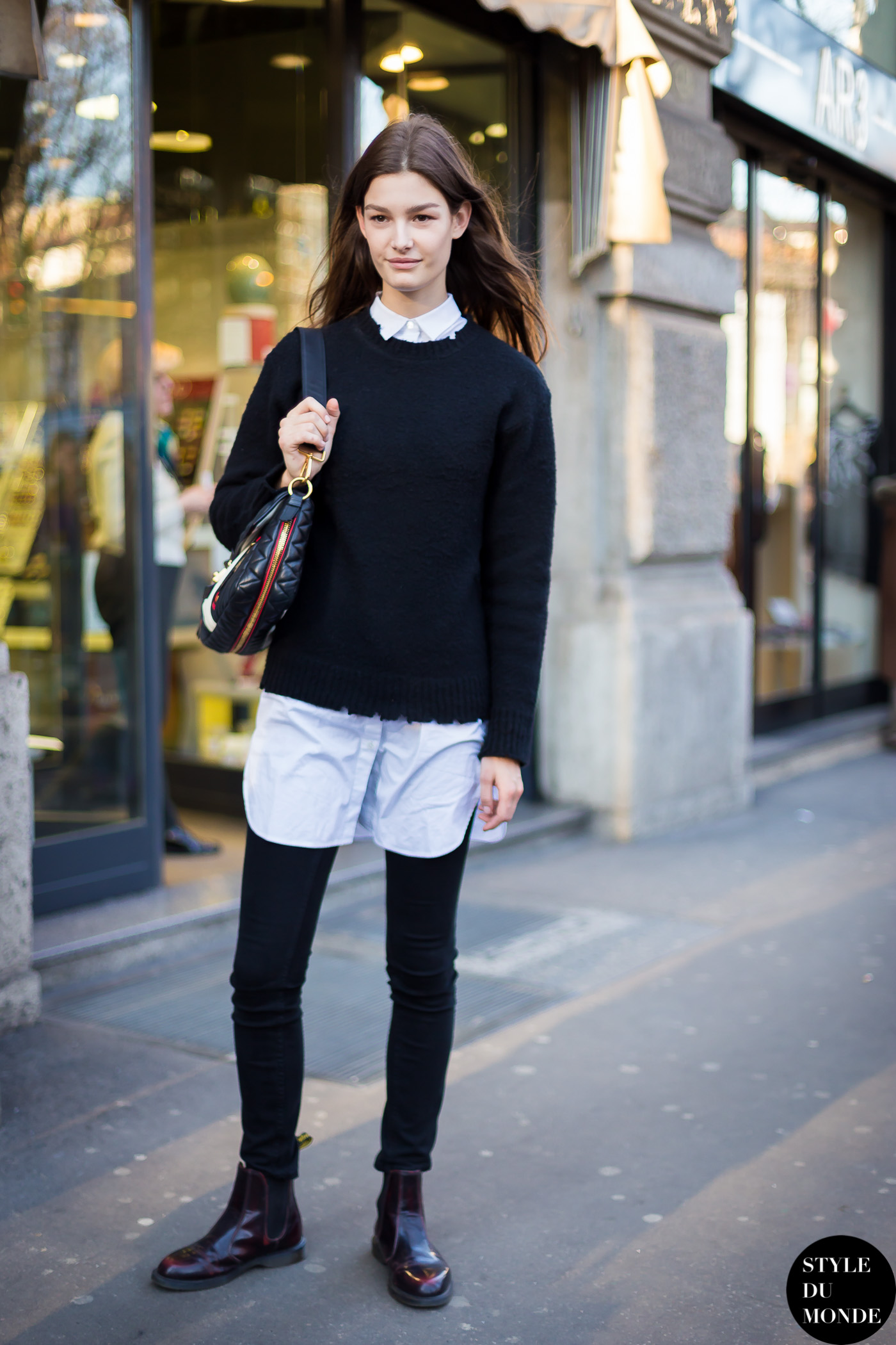 Ophelie Guillermand Street Style Street Fashion Streetsnaps by STYLEDUMONDE Street Style Fashion Blog