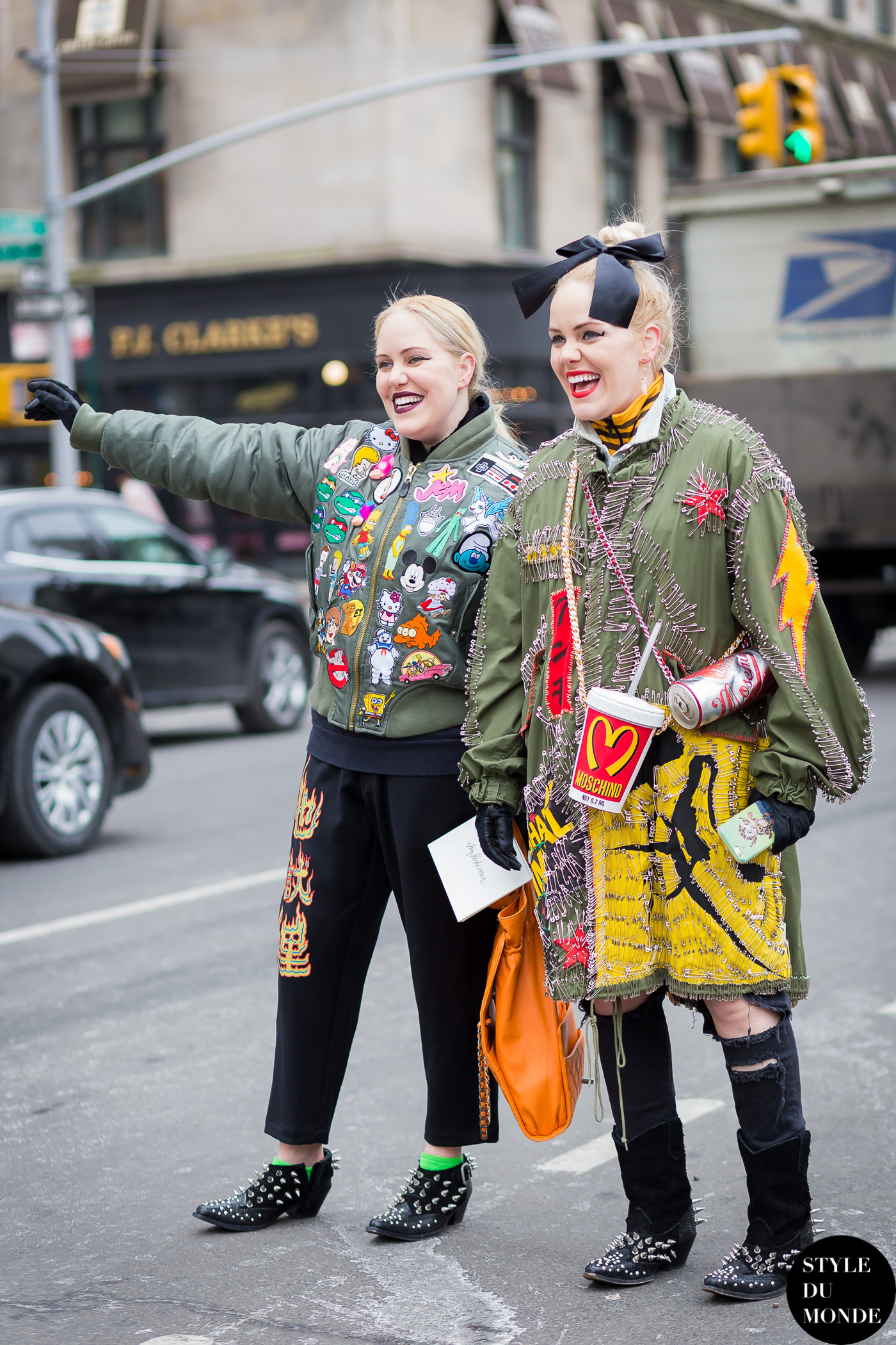 Cailli and Sam Beckerman Street Style Street Fashion Streetsnaps by STYLEDUMONDE Street Style Fashion Blog