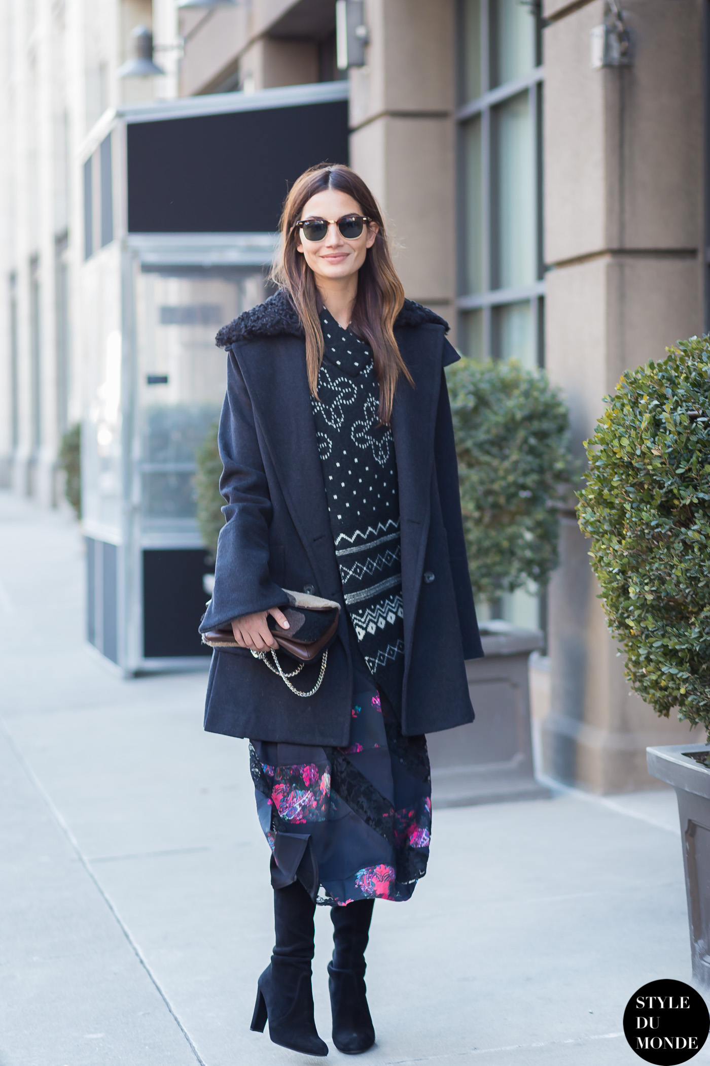 New york fashion week fw 2015 street style lily aldridge style du monde street style street Fashion style october 2015