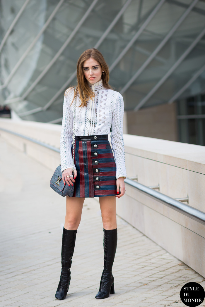 Paris Fashion Week Fw 2015 Street Style Chiara Ferragni