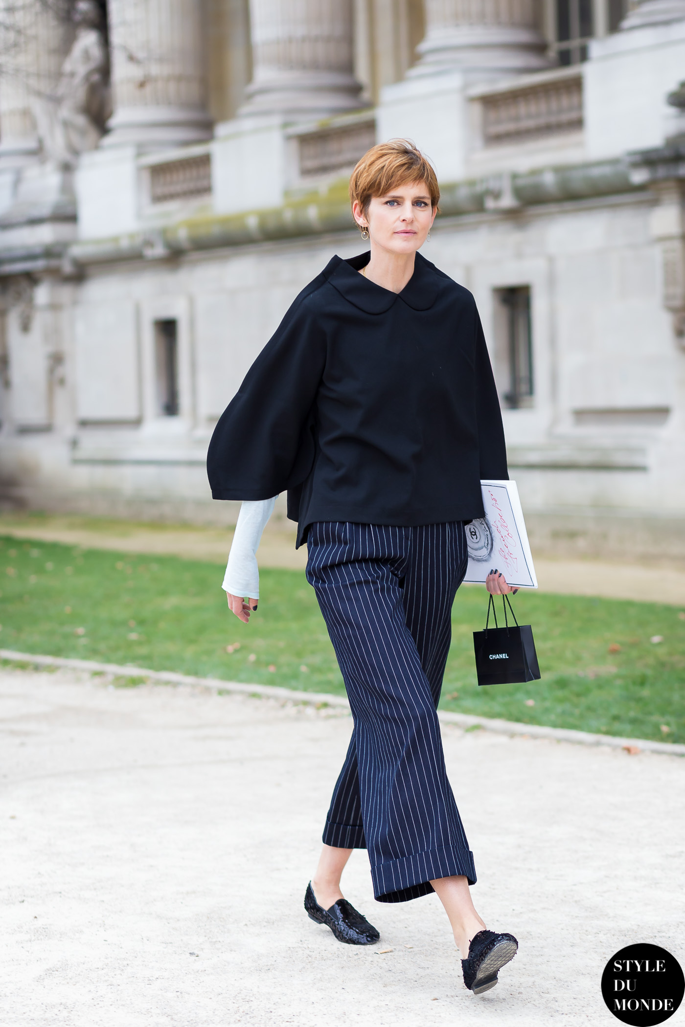 Stella Tennant Street Style Street Fashion Streetsnaps by STYLEDUMONDE Street Style Fashion Blog