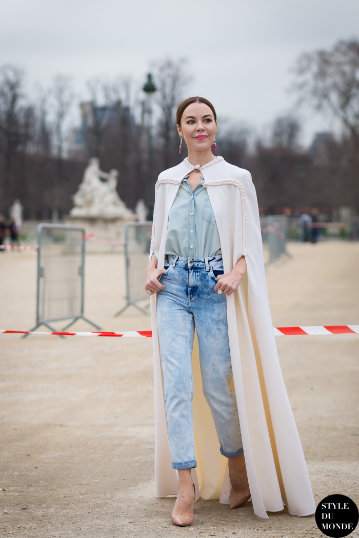 Paris Fashion Week Fw 2015 Street Style Ulyana Sergeenko