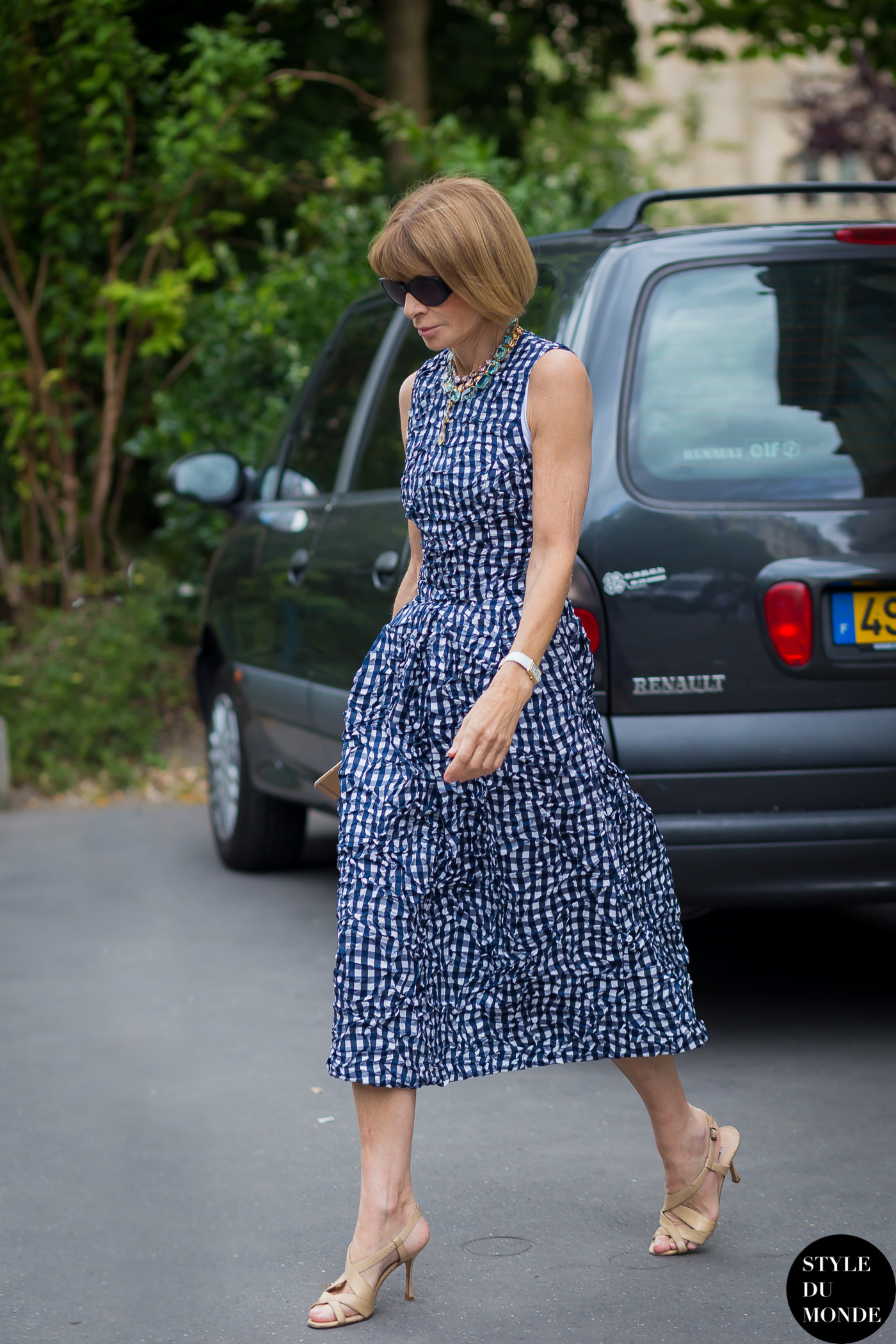 Haute Couture Fall 2015 Street Style Anna Wintour Style