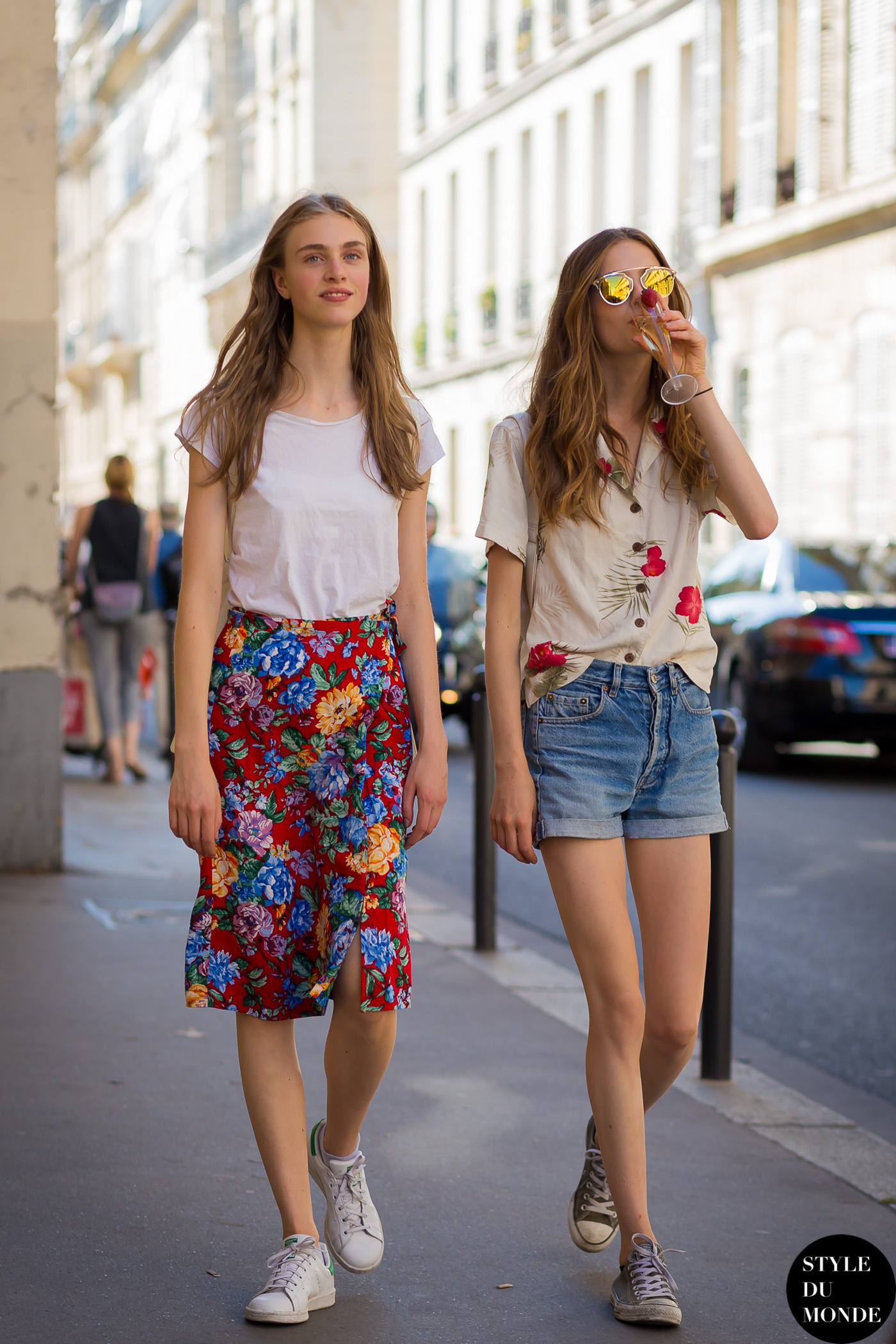 Hedvig Palm and Emmy Rappe Street Style Street Fashion Streetsnaps by STYLEDUMONDE Street Style Fashion Photography