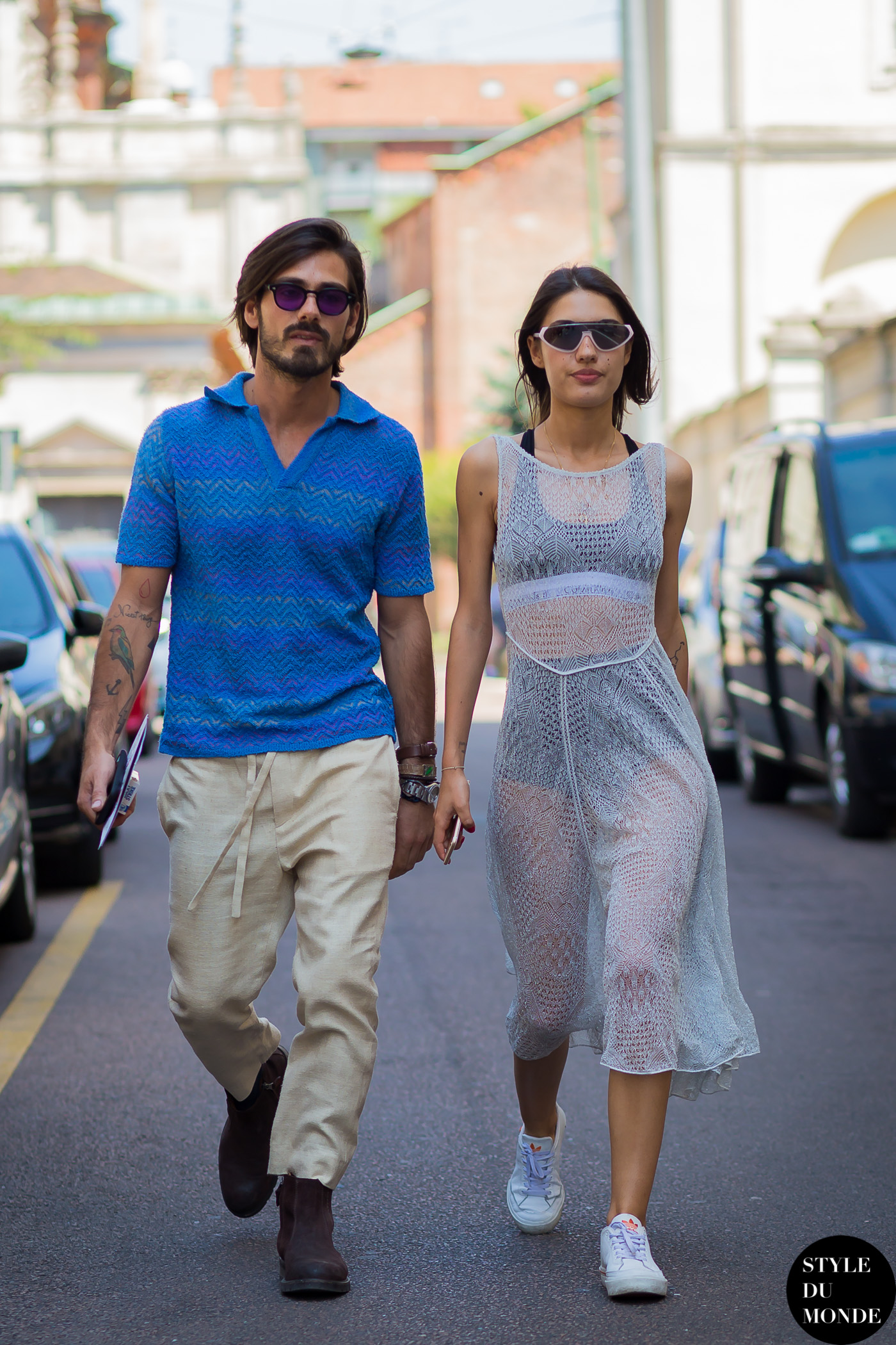 Patricia Manfield & Giotto Calendoli Street Style Street Fashion Streetsnaps by STYLEDUMONDE Street Style Fashion Photography