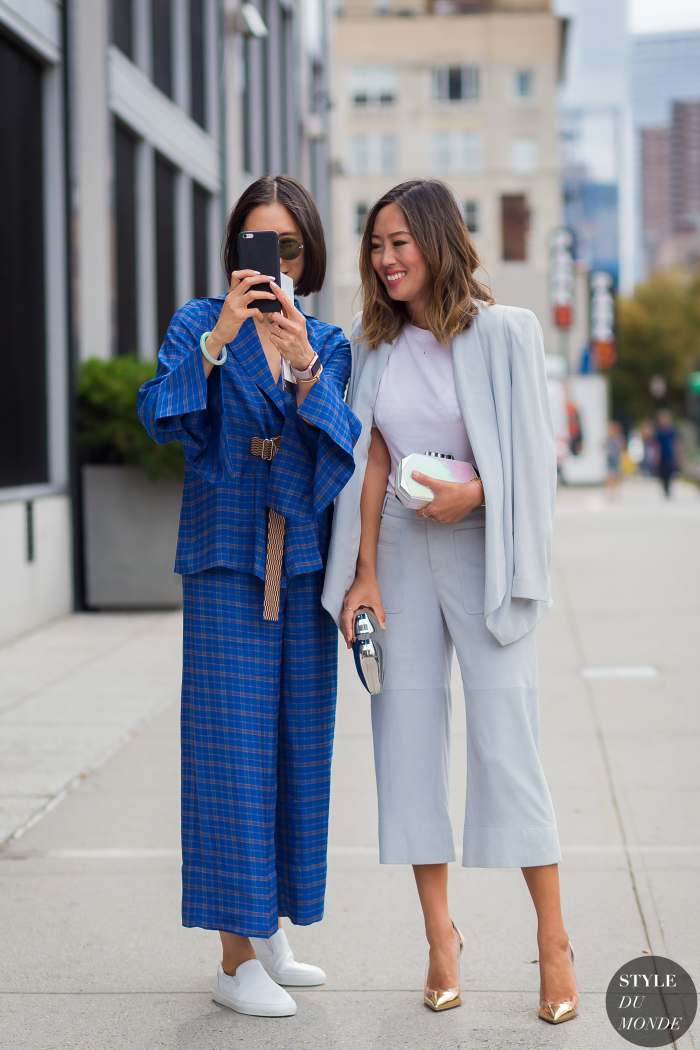 New York Fashion Week Ss 2016 Street Style Eva Chen And