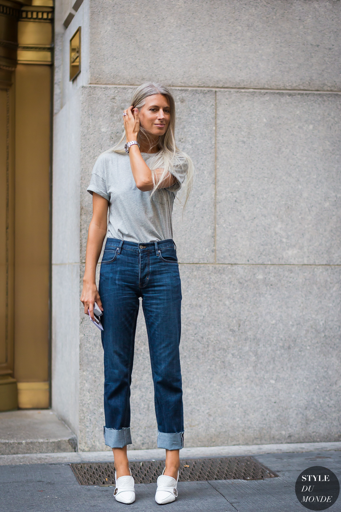 New York Fashion Week SS 2016 Street Style: Sarah Harris