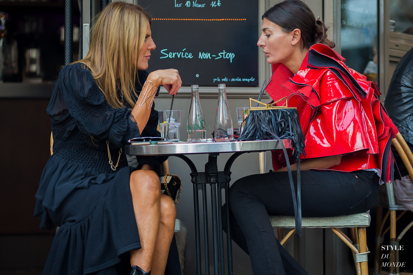 Anna Dello Russo and Giovanna Battaglia Street Style Street Fashion Streetsnaps by STYLEDUMONDE Street Style Fashion Photography