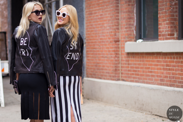 Caroline Vreeland and Shea Marie Street Style Street Fashion Streetsnaps by STYLEDUMONDE Street Style Fashion Photography