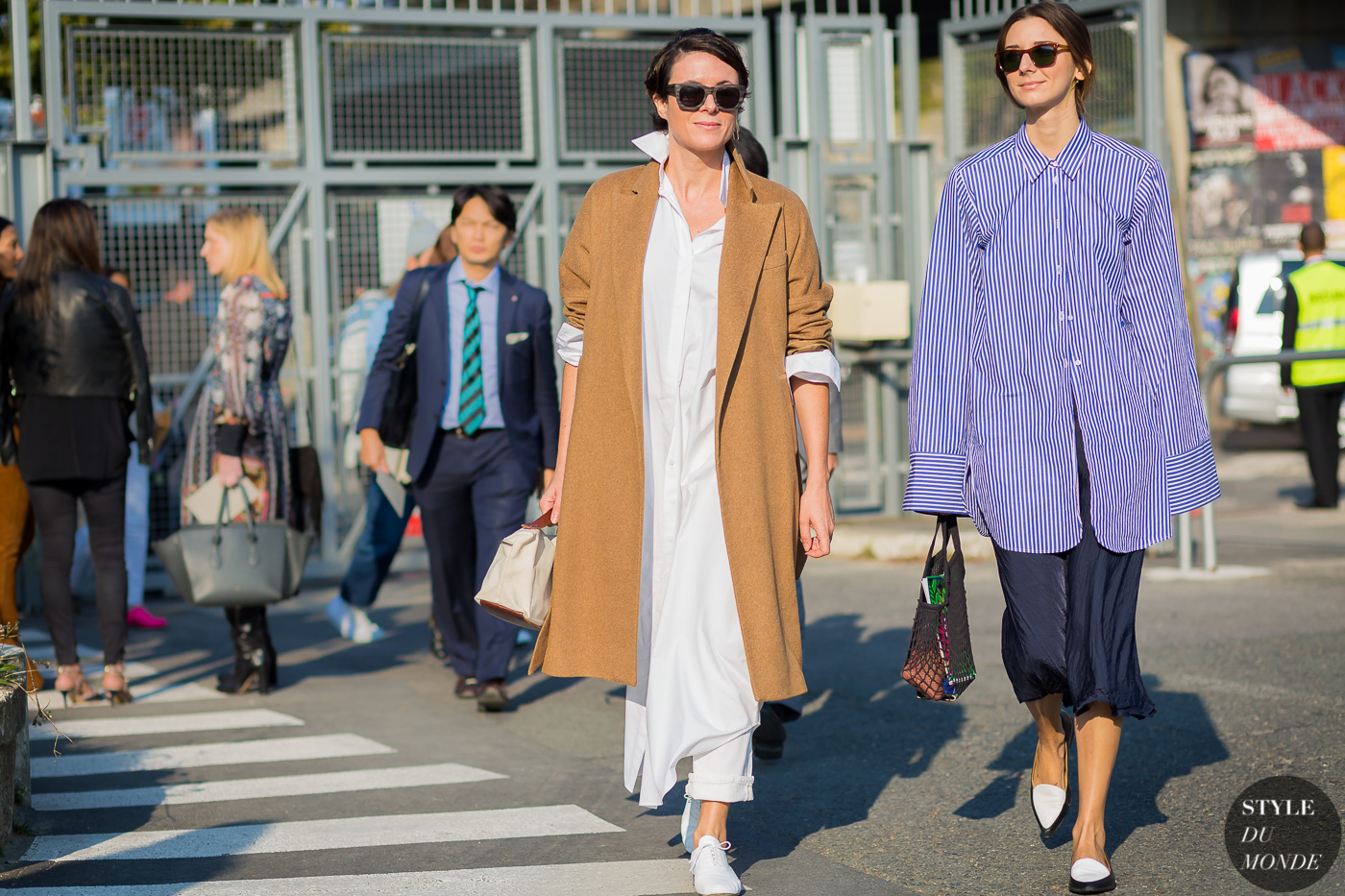 Garance Dore and Brie Welch Street Style Street Fashion Streetsnaps by STYLEDUMONDE Street Style Fashion Photography