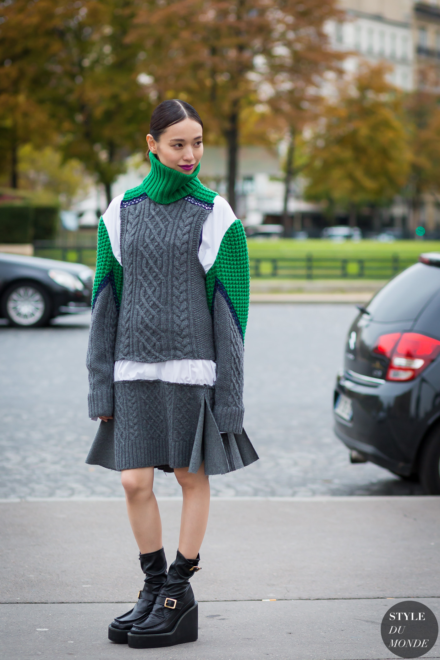 After Sacai Street Style Street Fashion Streetsnaps by STYLEDUMONDE Street Style Fashion Photography