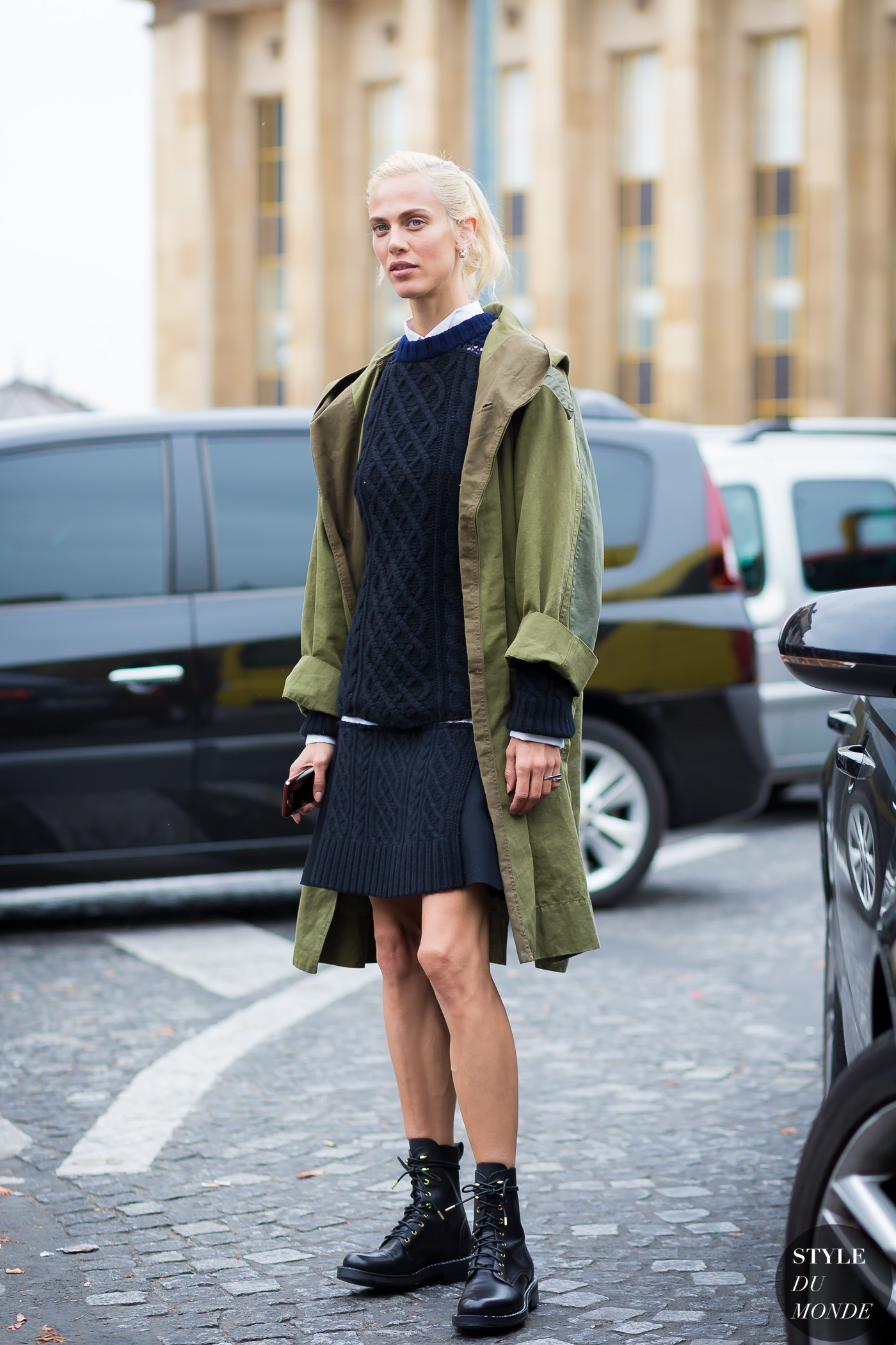 Aymeline Valade by STYLEDUMONDE Street Style Street Fashion Streetsnaps
