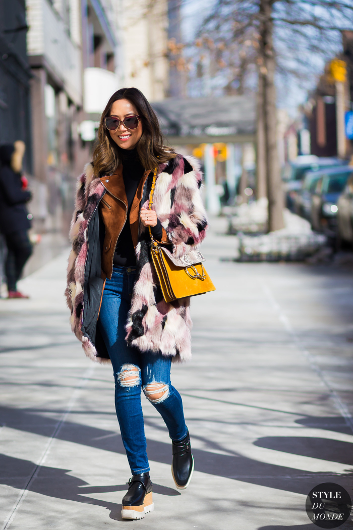 New York Fashion Week Fw 2015 Street Style Aimee Song Style Du Monde Street Style Street