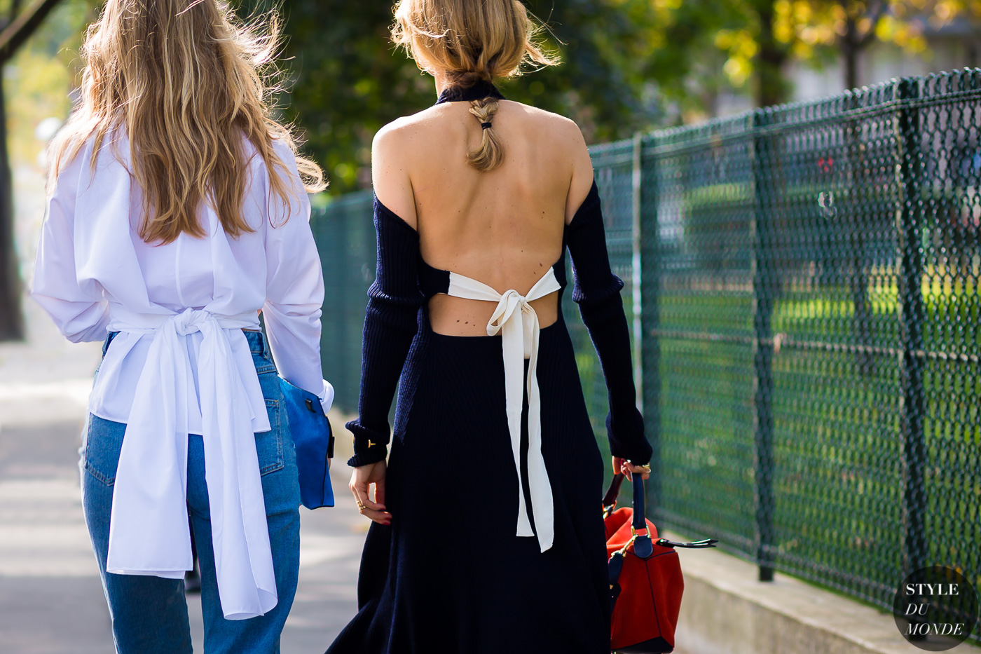 Alexandra Carl and Pernille Teisbaek Street Style Street Fashion Streetsnaps by STYLEDUMONDE Street Style Fashion Photography