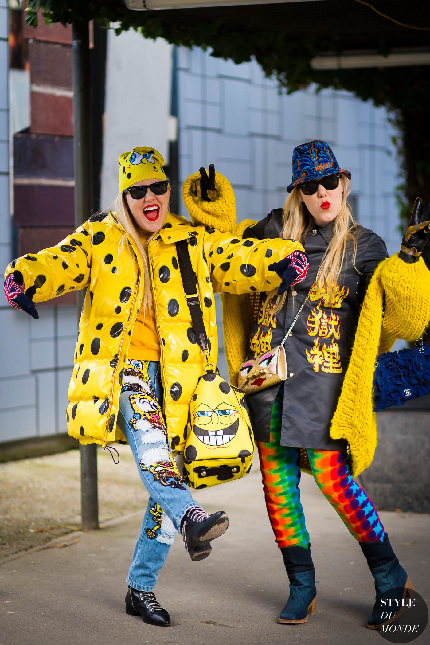 Cailli and Sam Beckerman Street Style Street Fashion Streetsnaps by STYLEDUMONDE Street Style Fashion Photography