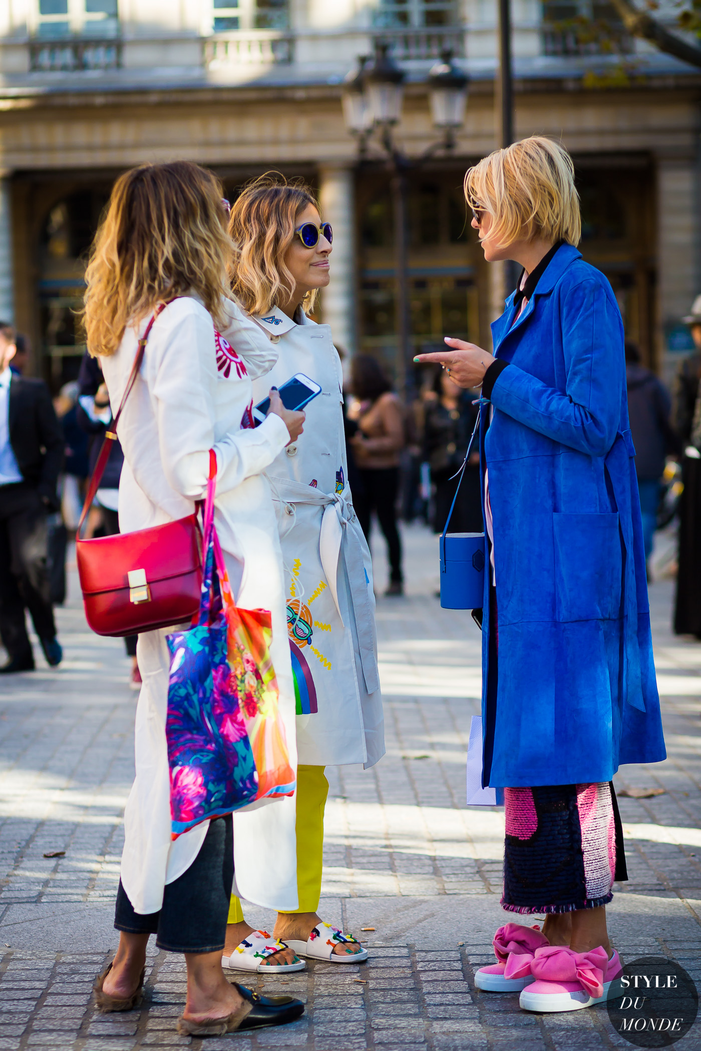 Elisa Nalin and Mira Mikati Street Style Street Fashion Streetsnaps by STYLEDUMONDE Street Style Fashion Photography