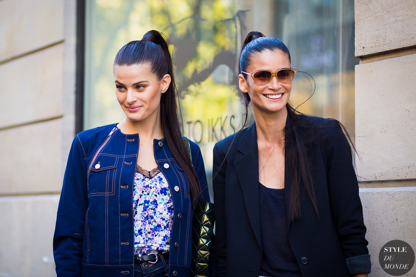 Isabeli Fontana and Carolina Ribeiro Street Style Street Fashion Streetsnaps by STYLEDUMONDE Street Style Fashion Photography
