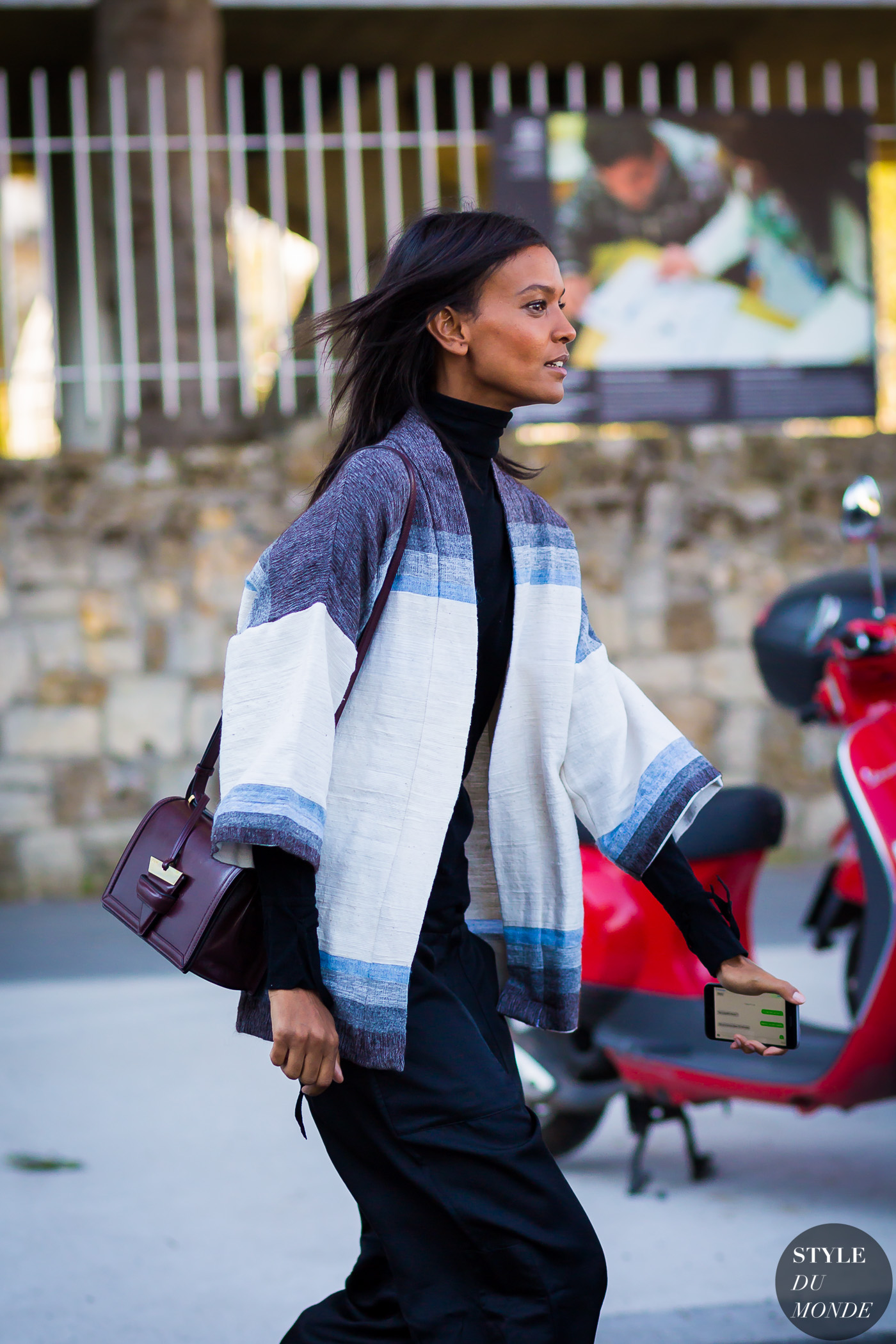Liya Kebede Street Style Street Fashion Streetsnaps by STYLEDUMONDE Street Style Fashion Photography