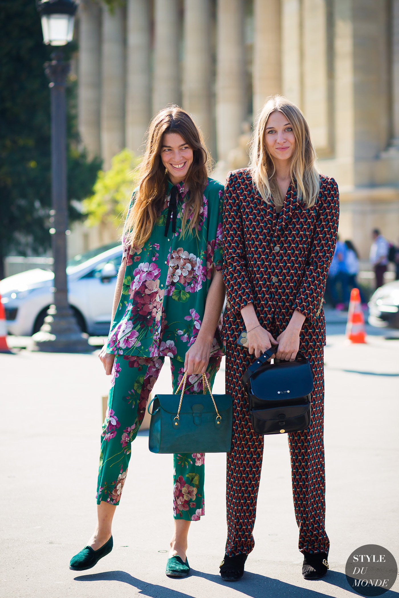 Tine Peduzzi and Luisa Orsini Street Style Street Fashion Streetsnaps by STYLEDUMONDE Street Style Fashion Photography