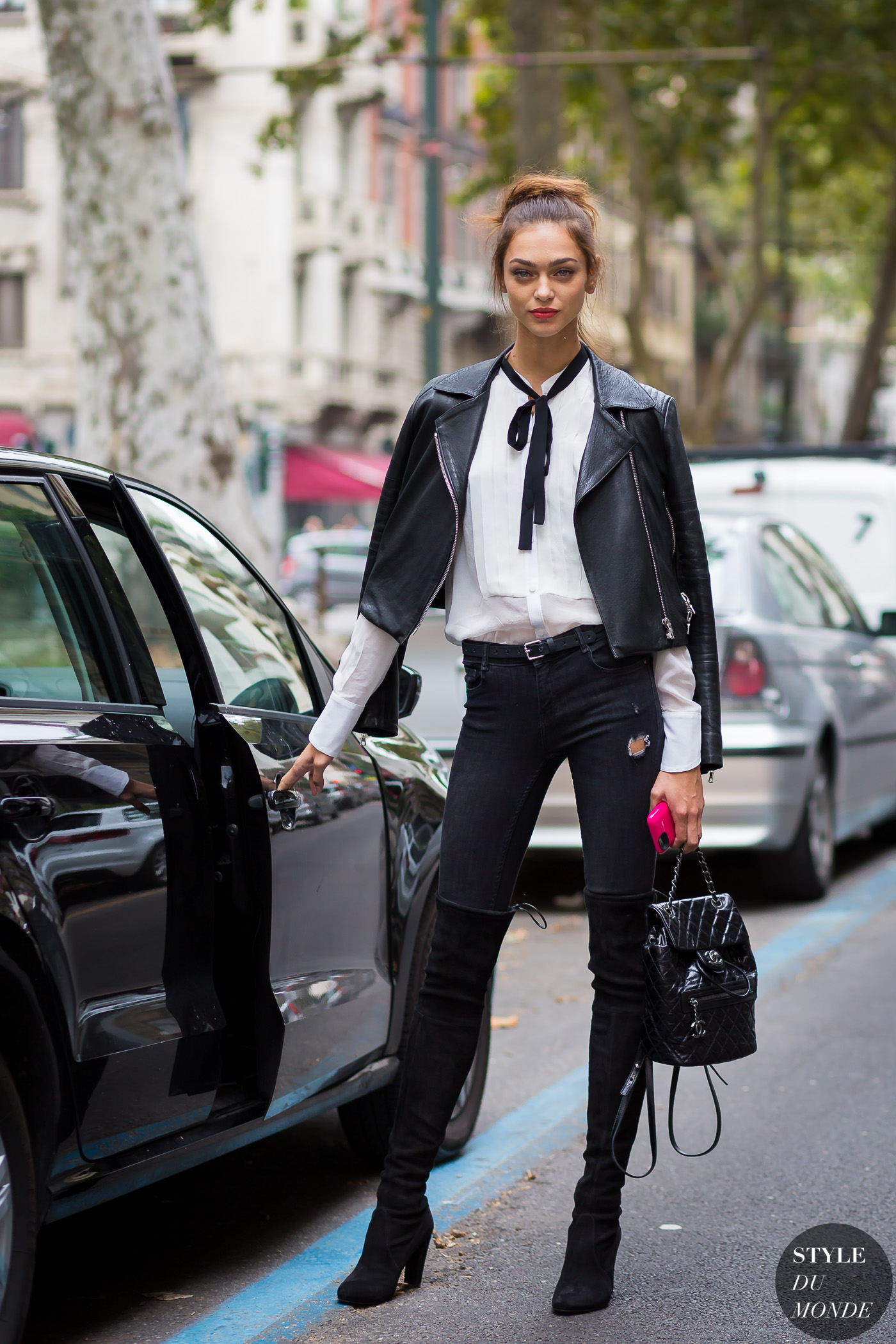 Zhenya Katava Street Style Street Fashion Streetsnaps by STYLEDUMONDE Street Style Fashion Photography