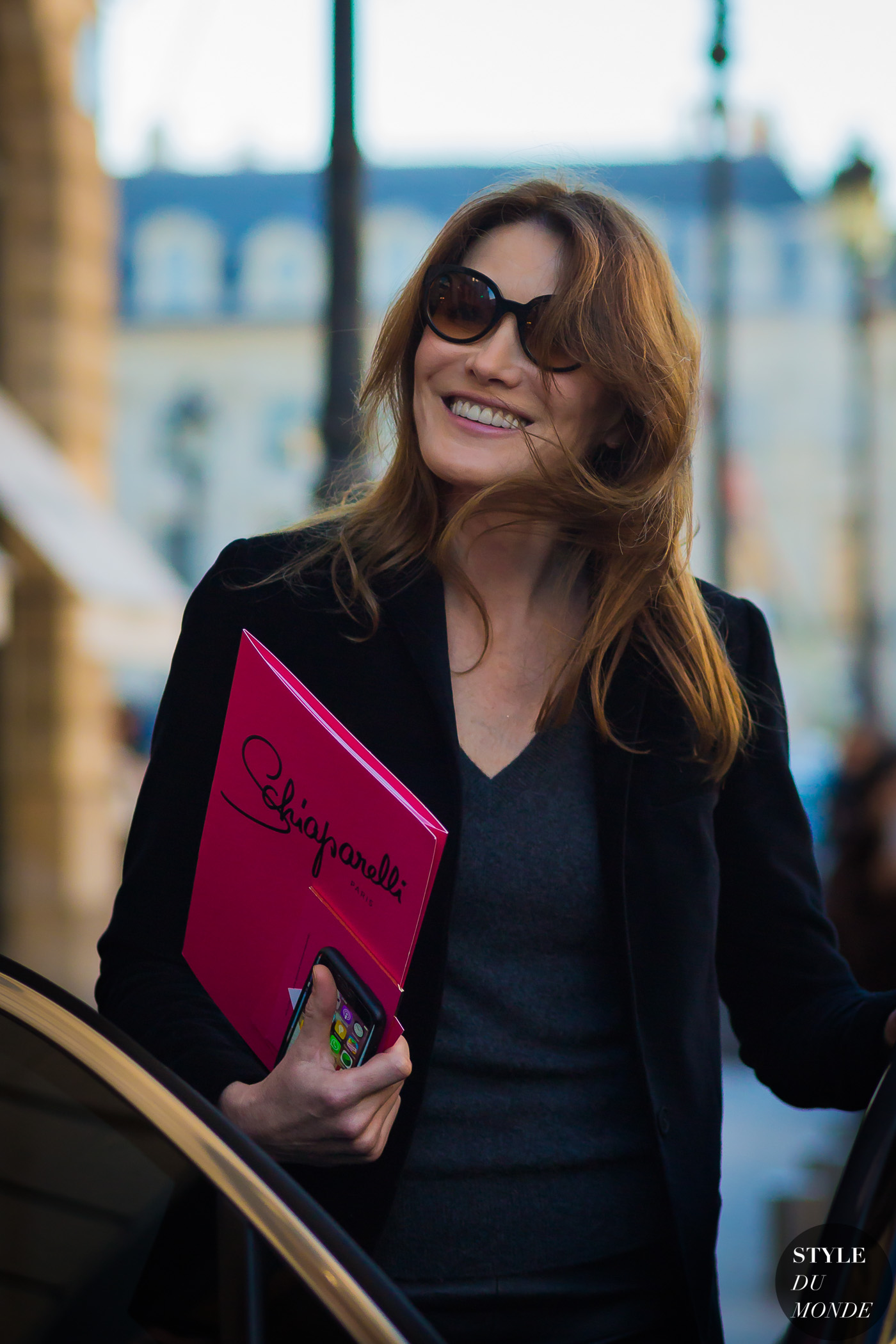 Carla Bruni Street Style Street Fashion Streetsnaps by STYLEDUMONDE Street Style Fashion Photography
