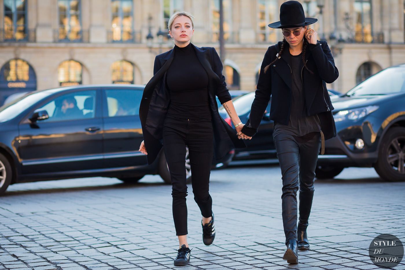 Caroline Vreeland and Tasya van Ree Street Style Street Fashion Streetsnaps by STYLEDUMONDE Street Style Fashion Photography