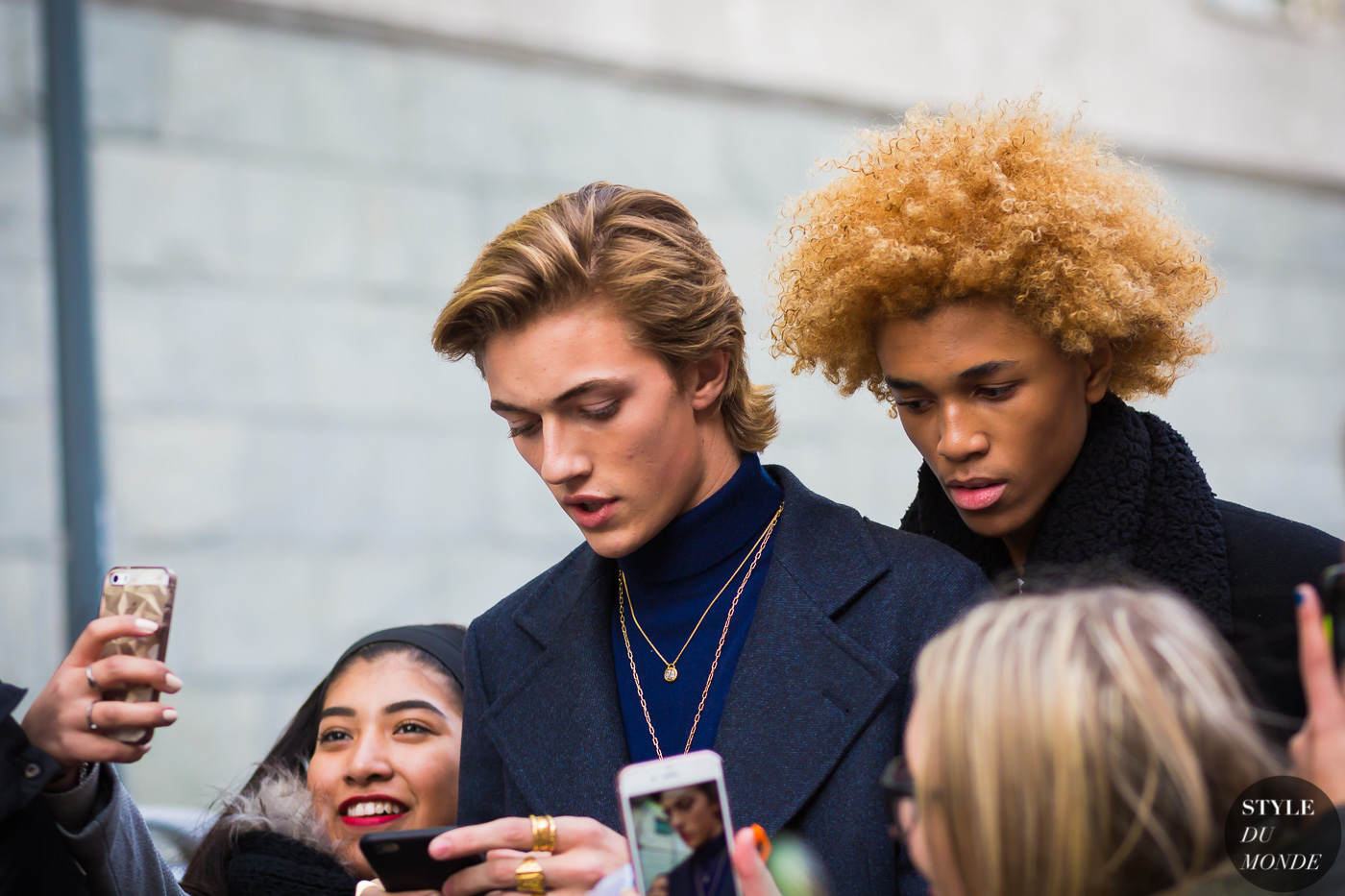 Lucky Blue Smith and Michael Lockley by STYLEDUMONDE Street Style Fashion Photography