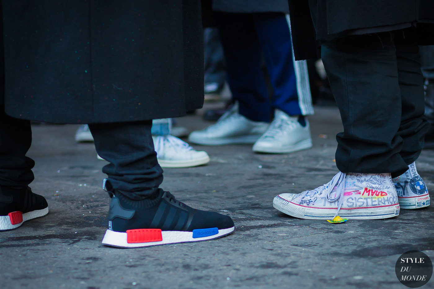 Demna Gvasalia and Virgil Abloh Street Style Street Fashion Streetsnaps by STYLEDUMONDE Street Style Fashion Photography