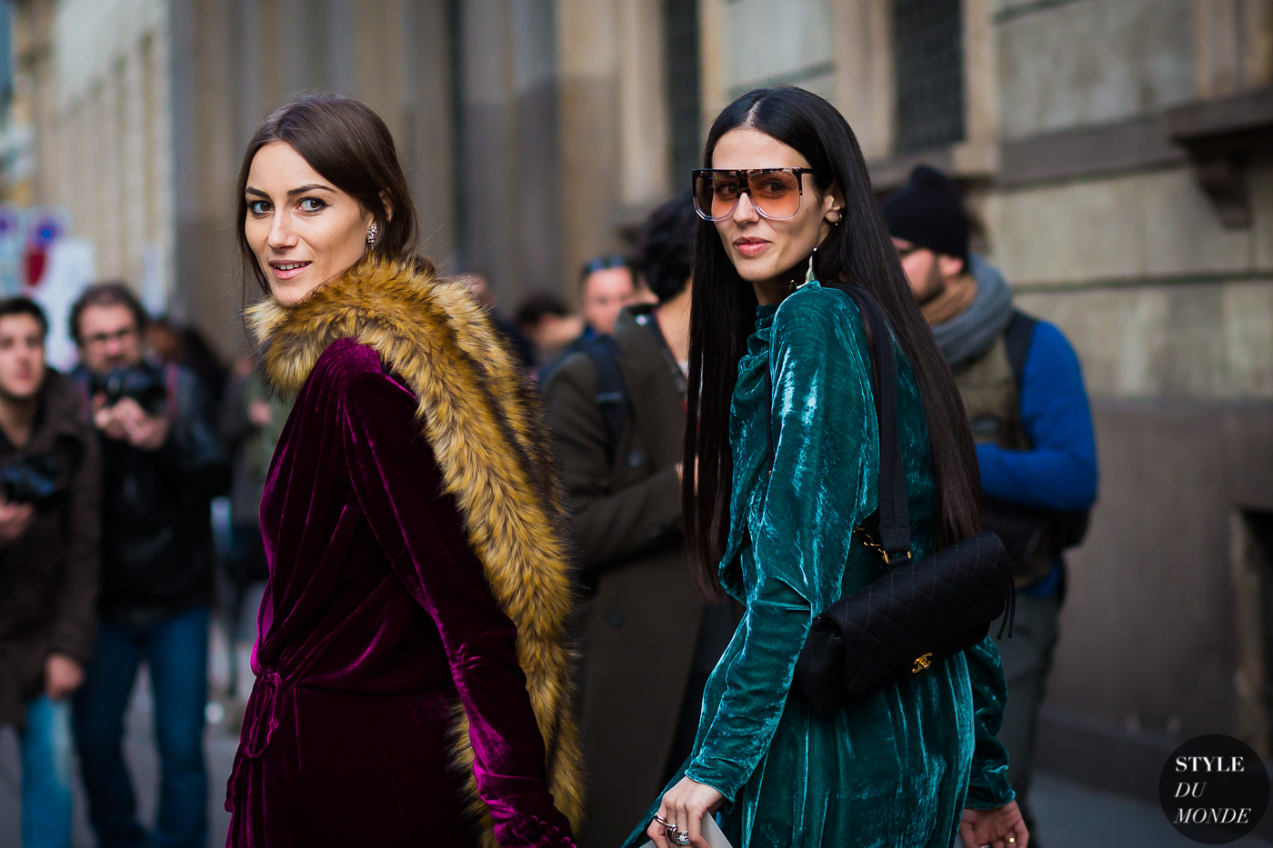 Giorgia Tordini and Gilda Ambrosio Street Style Street Fashion Streetsnaps by STYLEDUMONDE Street Style Fashion Photography