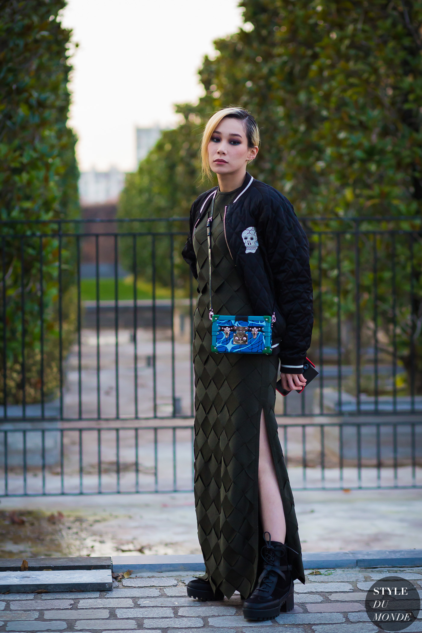 Mademoiselle Yulia Street Style Street Fashion Streetsnaps by STYLEDUMONDE Street Style Fashion Photography