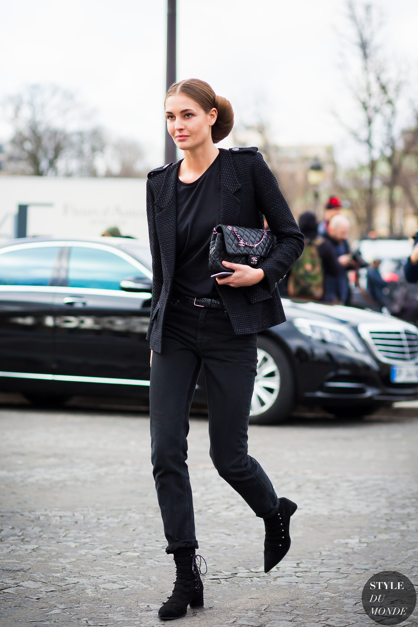 Nadja Bender Street Style Street Fashion Streetsnaps by STYLEDUMONDE Street Style Fashion Photography
