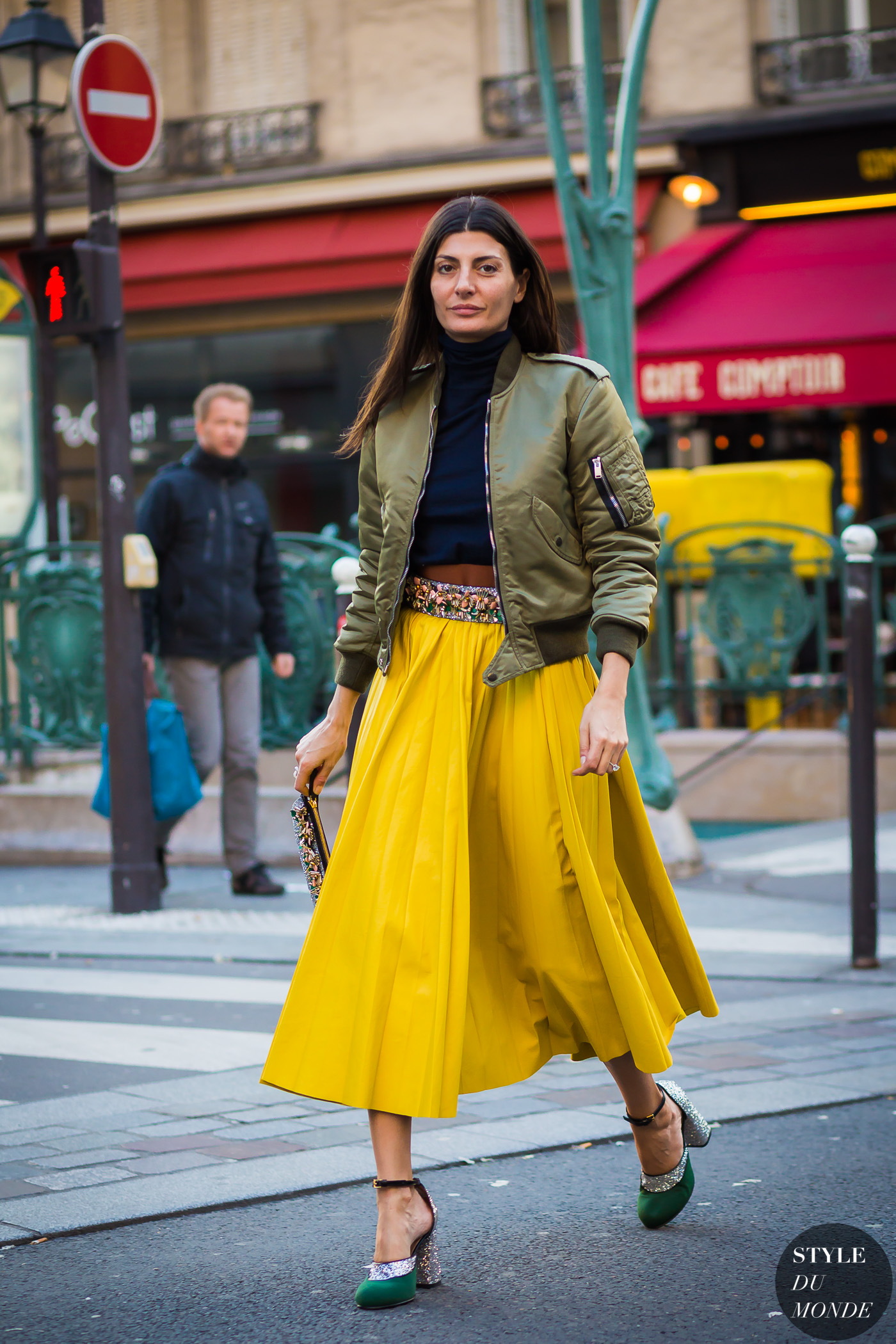 Giovanna Battaglia Street Style Street Fashion Streetsnaps by STYLEDUMONDE Street Style Fashion Photography
