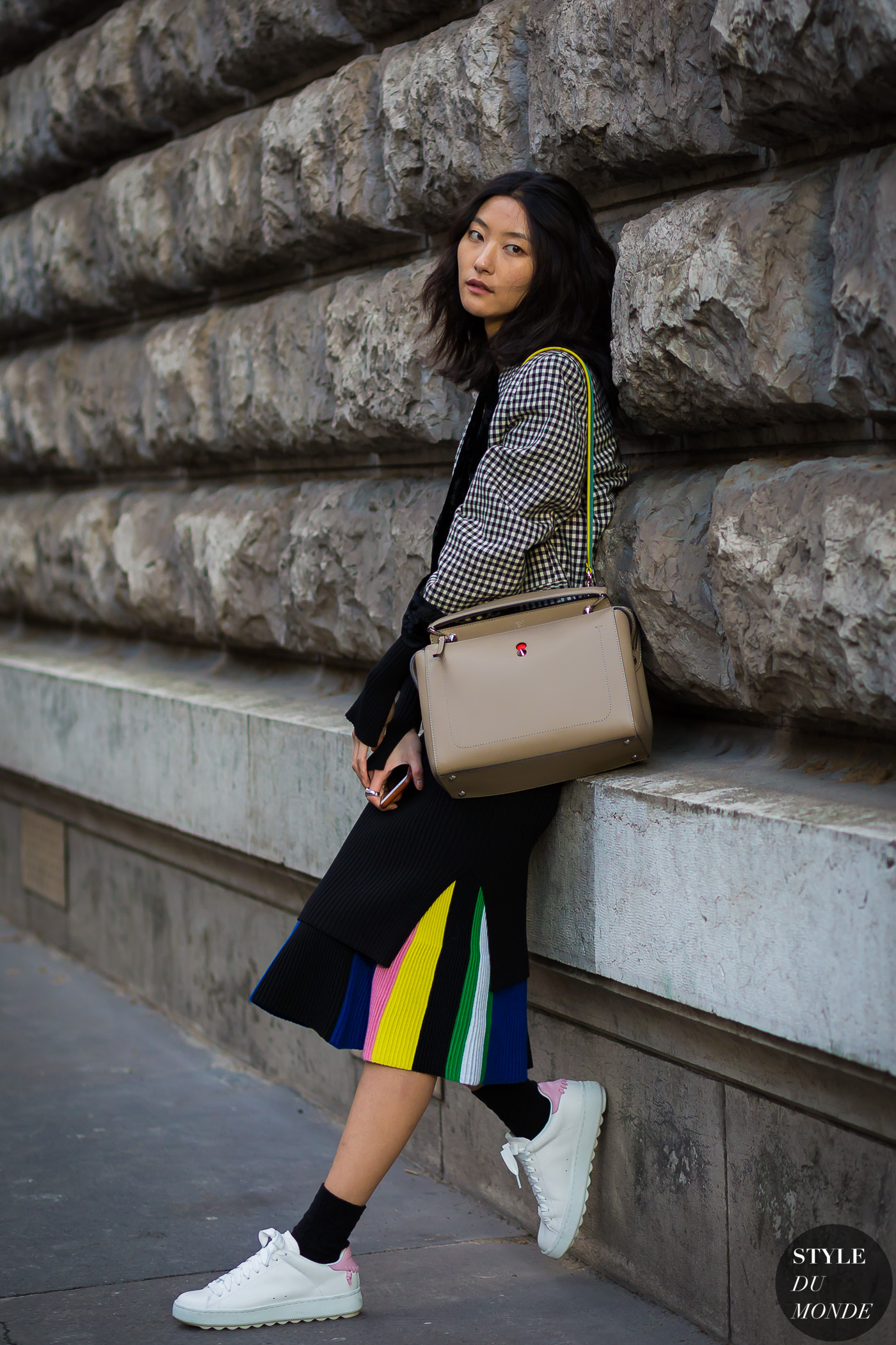 Jihye Park Street Style Street Fashion Streetsnaps by STYLEDUMONDE Street Style Fashion Photography