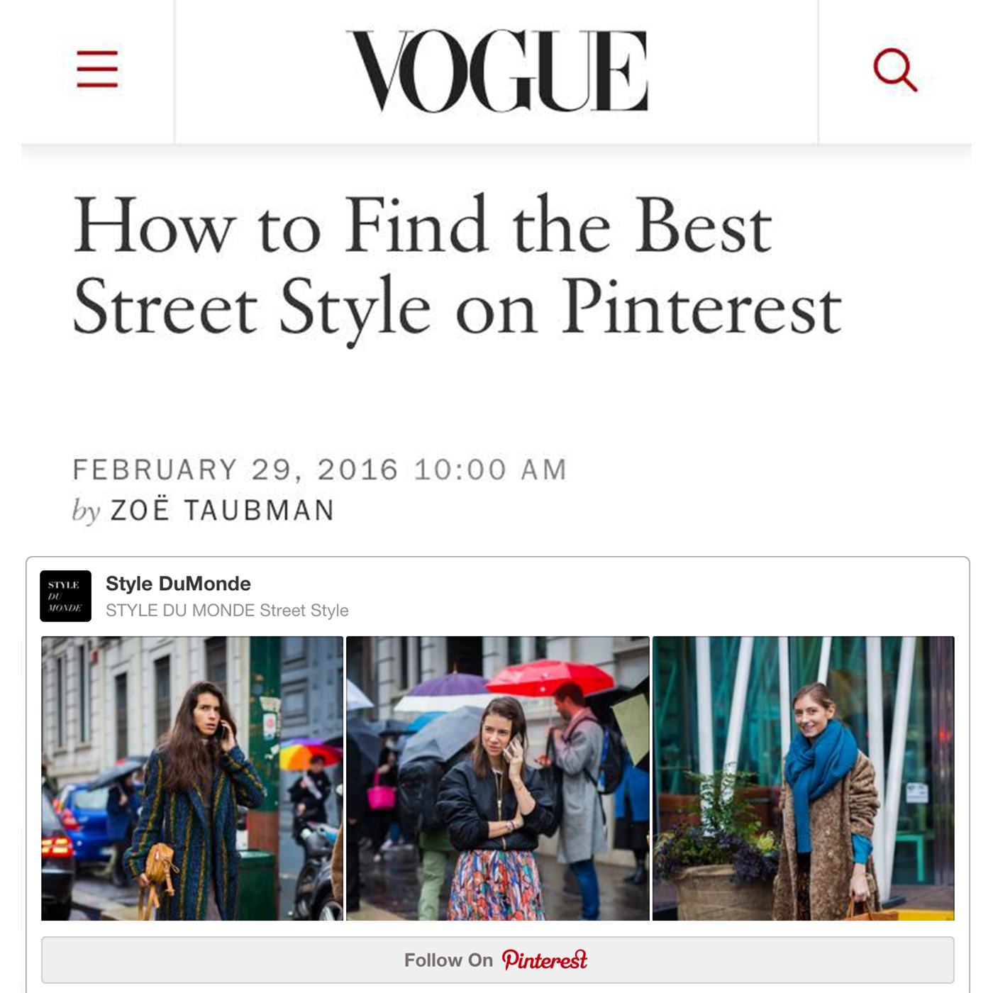 Vogue-StyleDuMonde the Best Street Style on Pinterest-feature