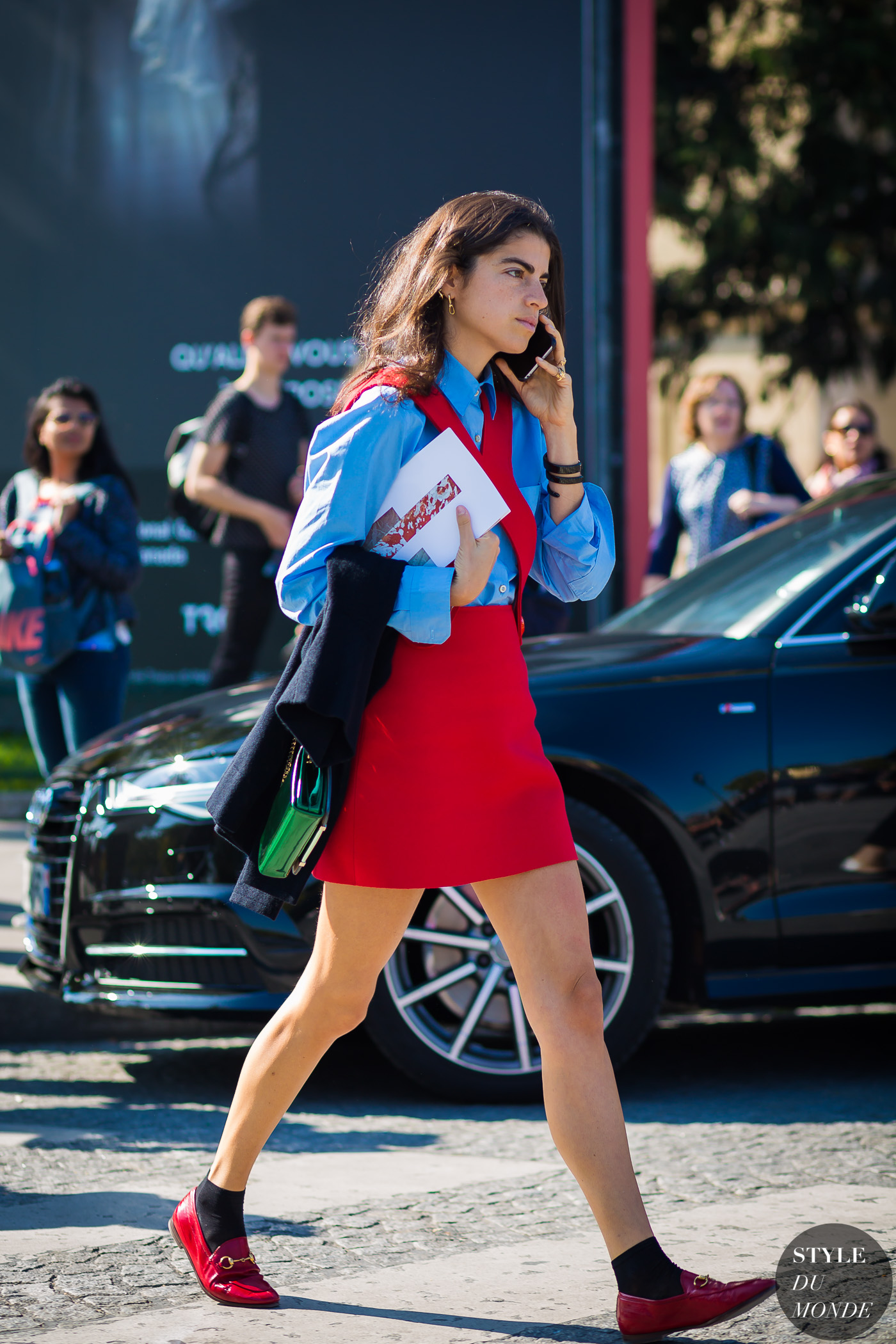 Leandra Medine Street Style Street Fashion Streetsnaps by STYLEDUMONDE Street Style Fashion Photography