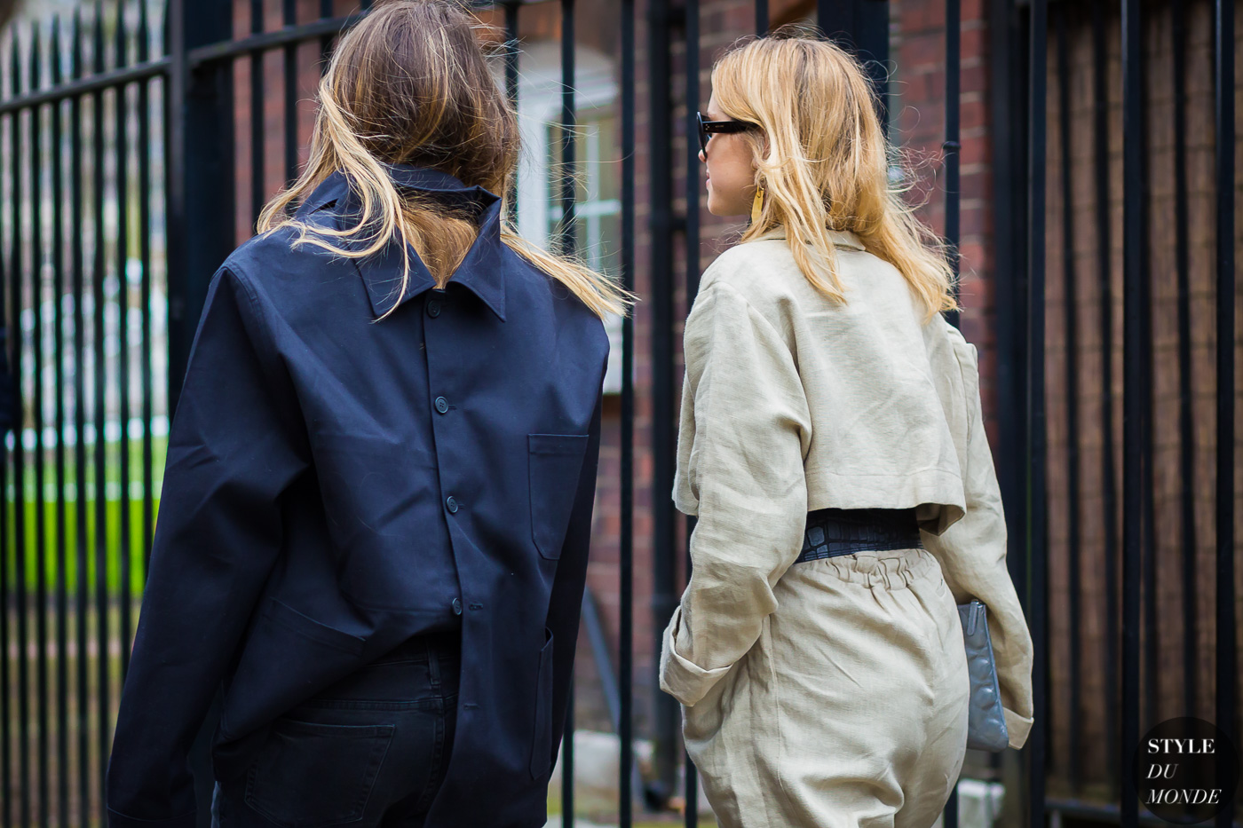 Natalie Hartley and Pernille Teisbaek Street Style Street Fashion Streetsnaps by STYLEDUMONDE Street Style Fashion Photography