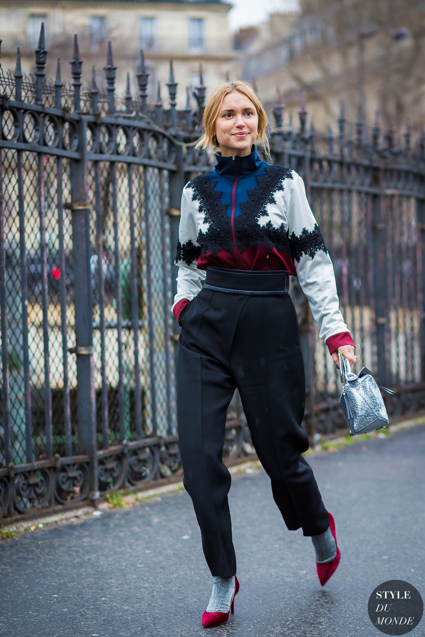 Pernille Teisbaek Street Style Street Fashion Streetsnaps by STYLEDUMONDE Street Style Fashion Photography