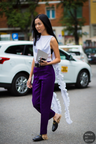 Yoyo Cao Street Style Street Fashion Streetsnaps by STYLEDUMONDE Street Style Fashion Photography