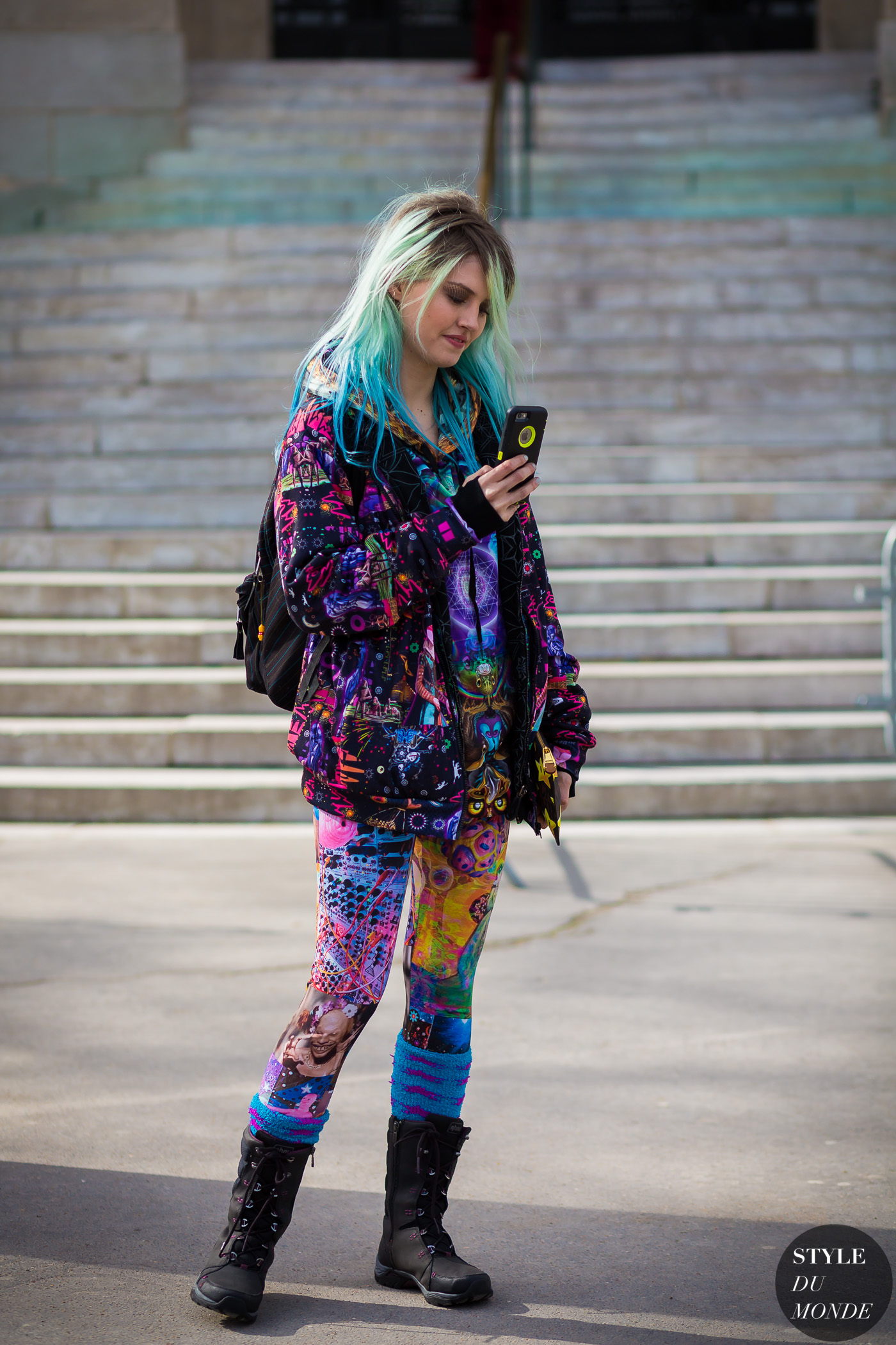 10c361833ef87 Charlotte Free after Chanel fashion show.