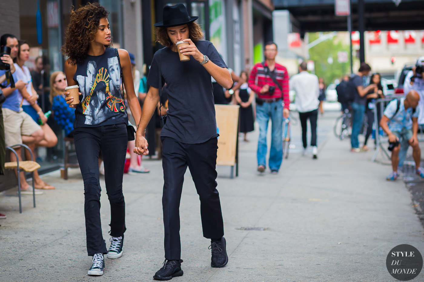 Imaan Hammam and Naleye Junior Dolmans Street Style Street Fashion Streetsnaps by STYLEDUMONDE Street Style Fashion Photography