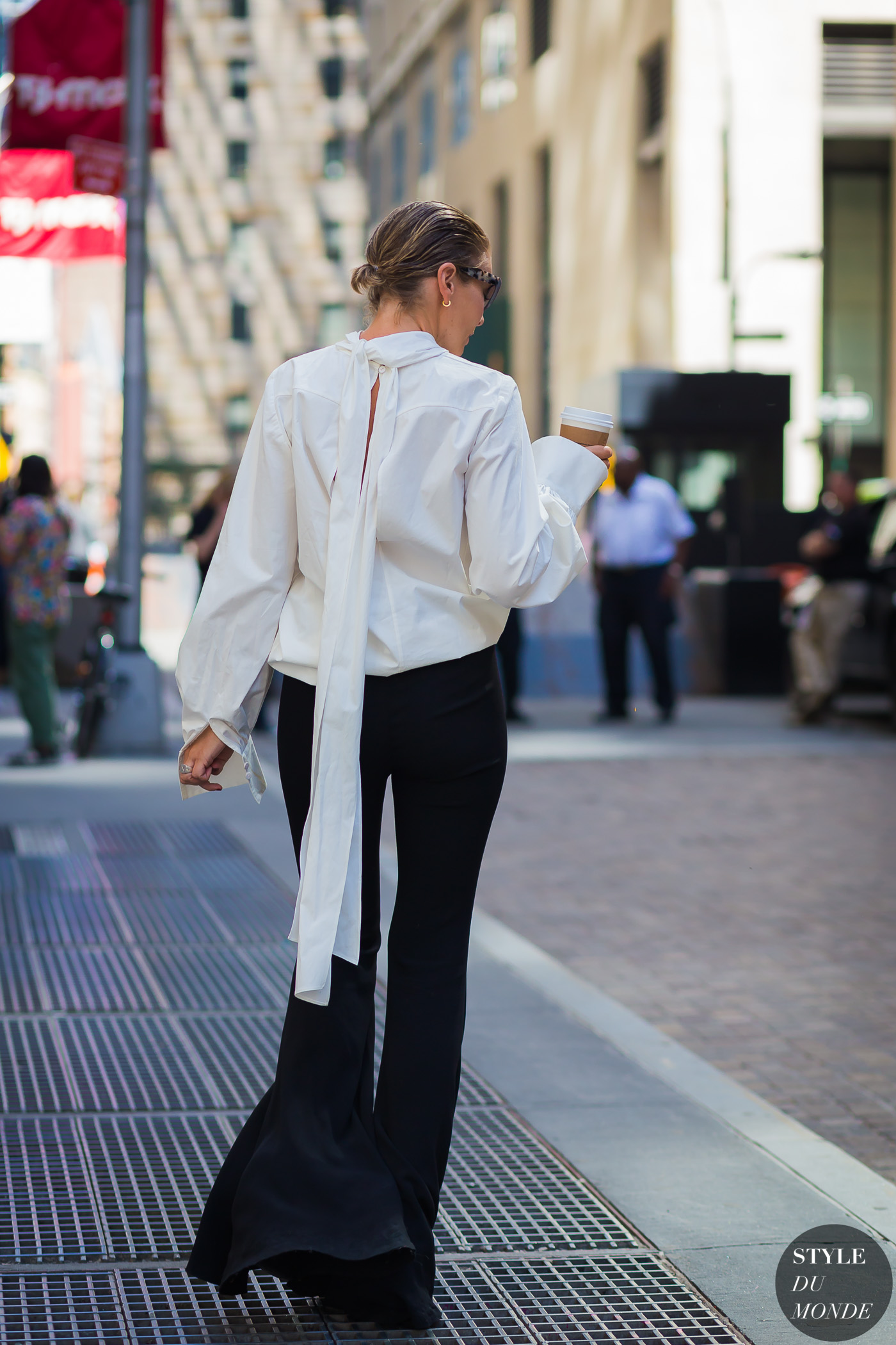 Before Diesel black and white Street Style Street Fashion Streetsnaps by STYLEDUMONDE Street Style Fashion Photography