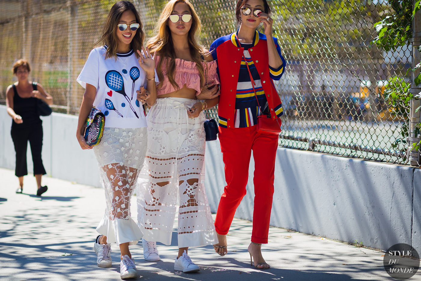Chriselle Lim Aimee and Dani Song Street Style Street Fashion Streetsnaps by STYLEDUMONDE Street Style Fashion Photography