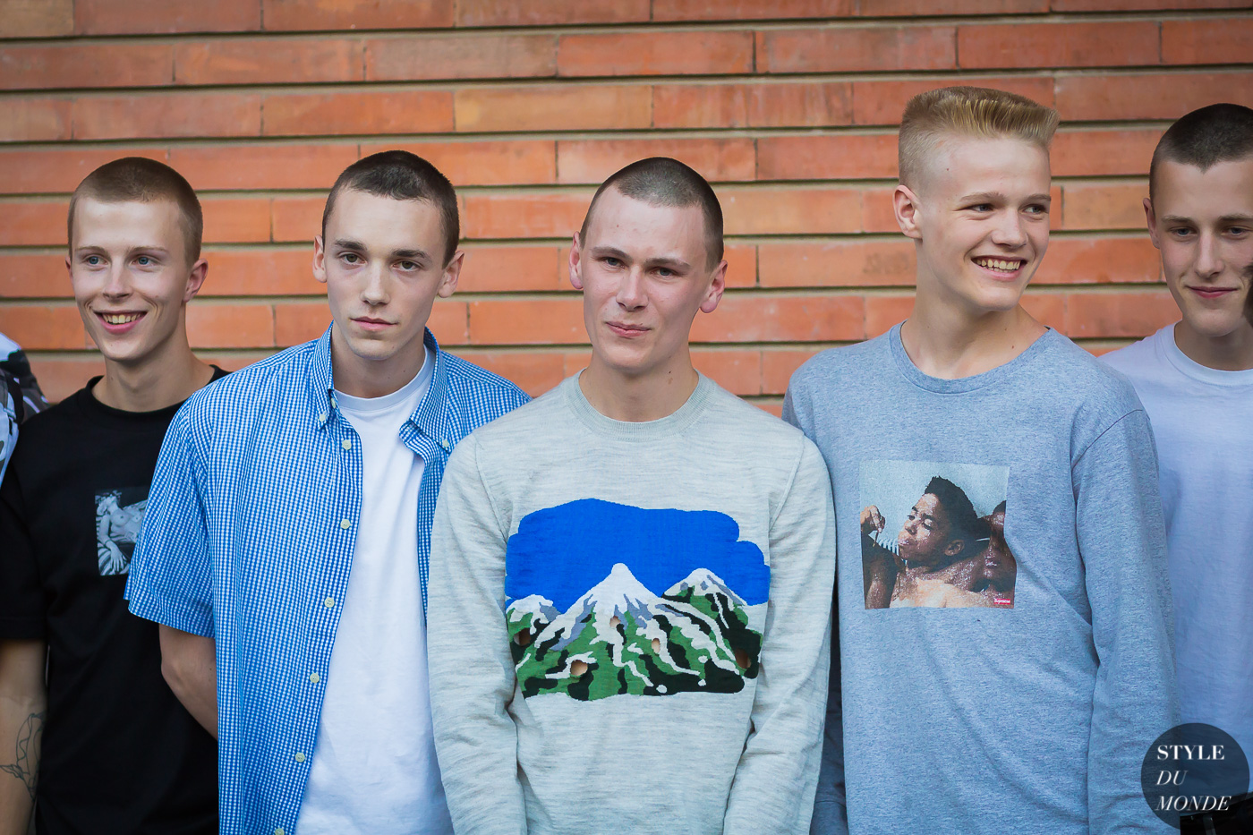 Gosha Rubchinskiy boys Street Style Street Fashion Streetsnaps by STYLEDUMONDE Street Style Fashion Photography