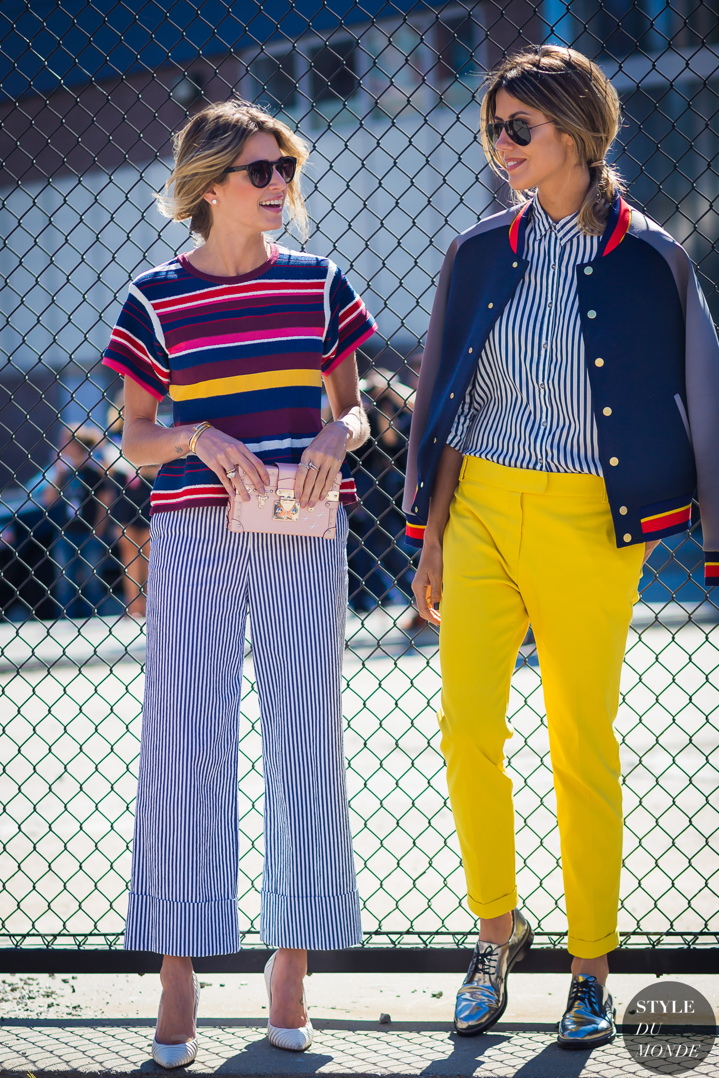 Helena Bordon and Martha Graeff Street Style Street Fashion Streetsnaps by STYLEDUMONDE Street Style Fashion Photography
