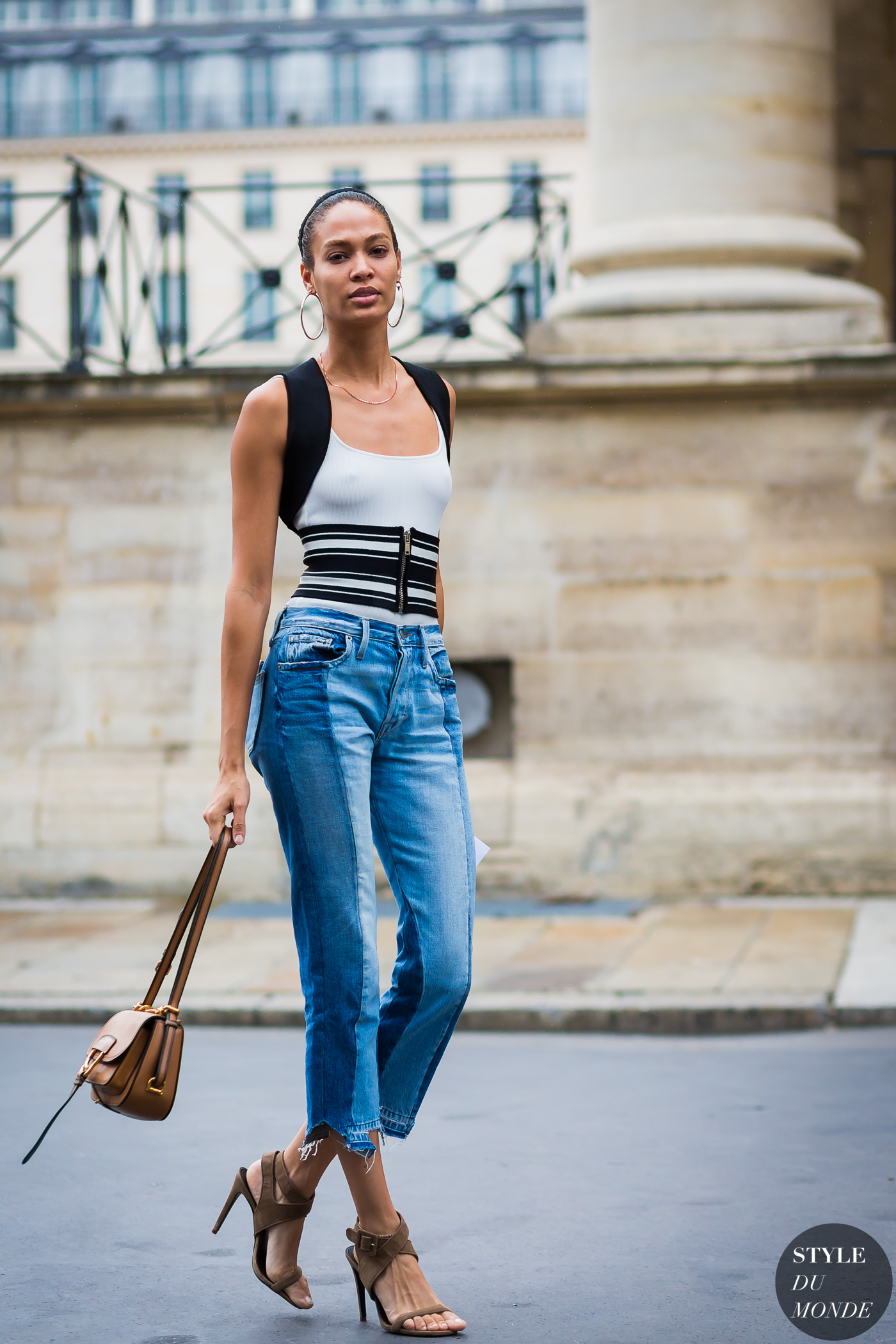 Joan Smalls Street Style Street Fashion Streetsnaps by STYLEDUMONDE Street Style Fashion Photography