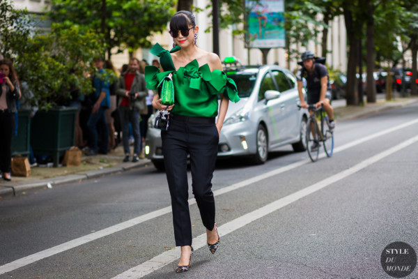 Leaf Greener Street Style Street Fashion Streetsnaps by STYLEDUMONDE Street Style Fashion Photography